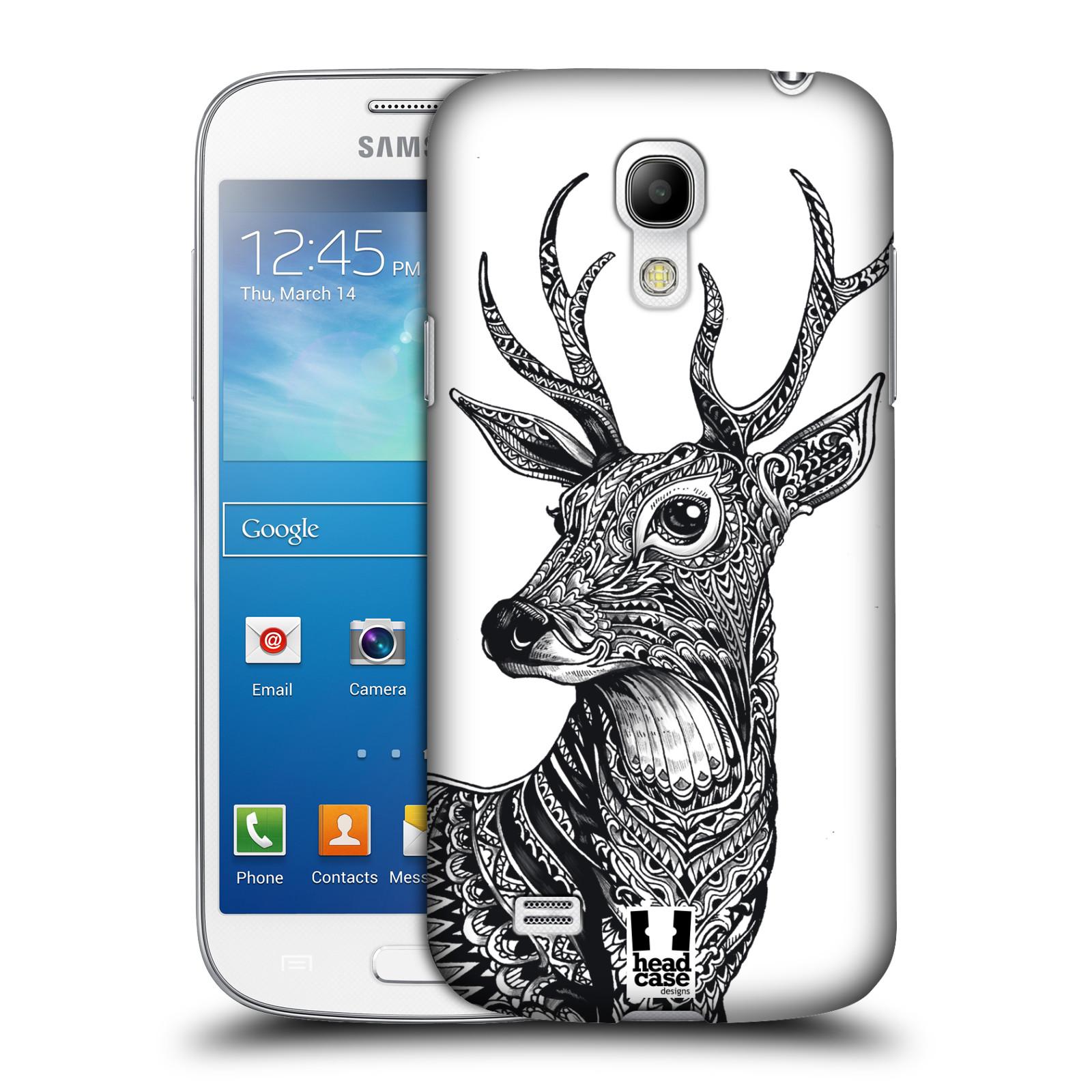 Plastové pouzdro na mobil Samsung Galaxy S4 Mini HEAD CASE Zdobený Jelínek (Plastový kryt či obal na mobilní telefon Samsung Galaxy S4 Mini GT-i9195 / i9190)