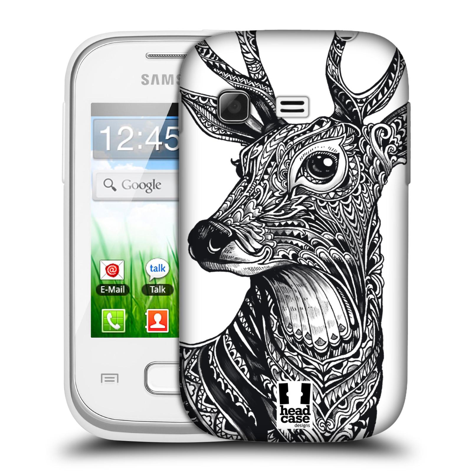 Plastové pouzdro na mobil Samsung Galaxy Pocket HEAD CASE Zdobený Jelínek (Plastový kryt či obal na mobilní telefon Samsung Galaxy Pocket GT-S5300)