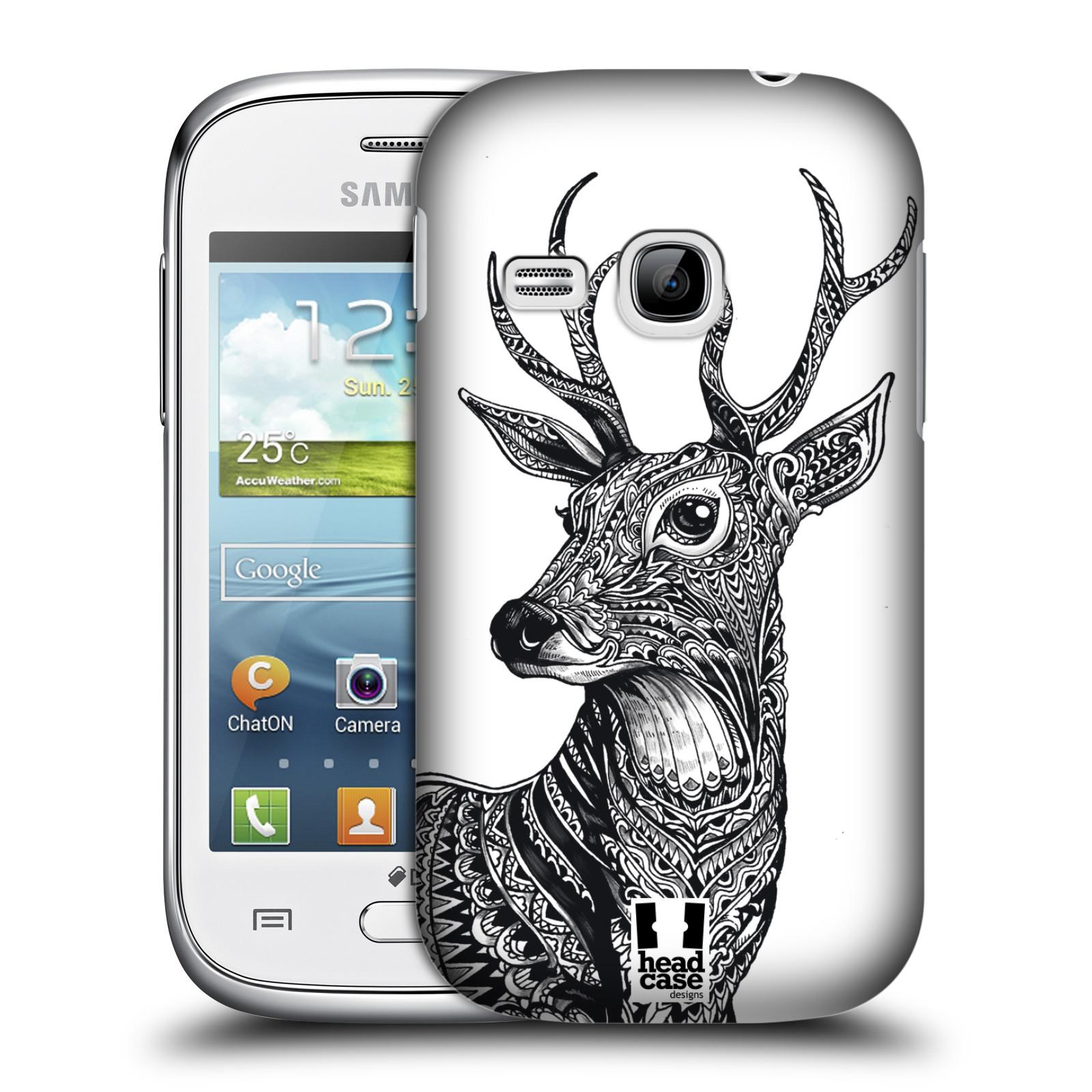 Plastové pouzdro na mobil Samsung Galaxy Young HEAD CASE Zdobený Jelínek (Plastový kryt či obal na mobilní telefon Samsung Galaxy Young GT-S6310)
