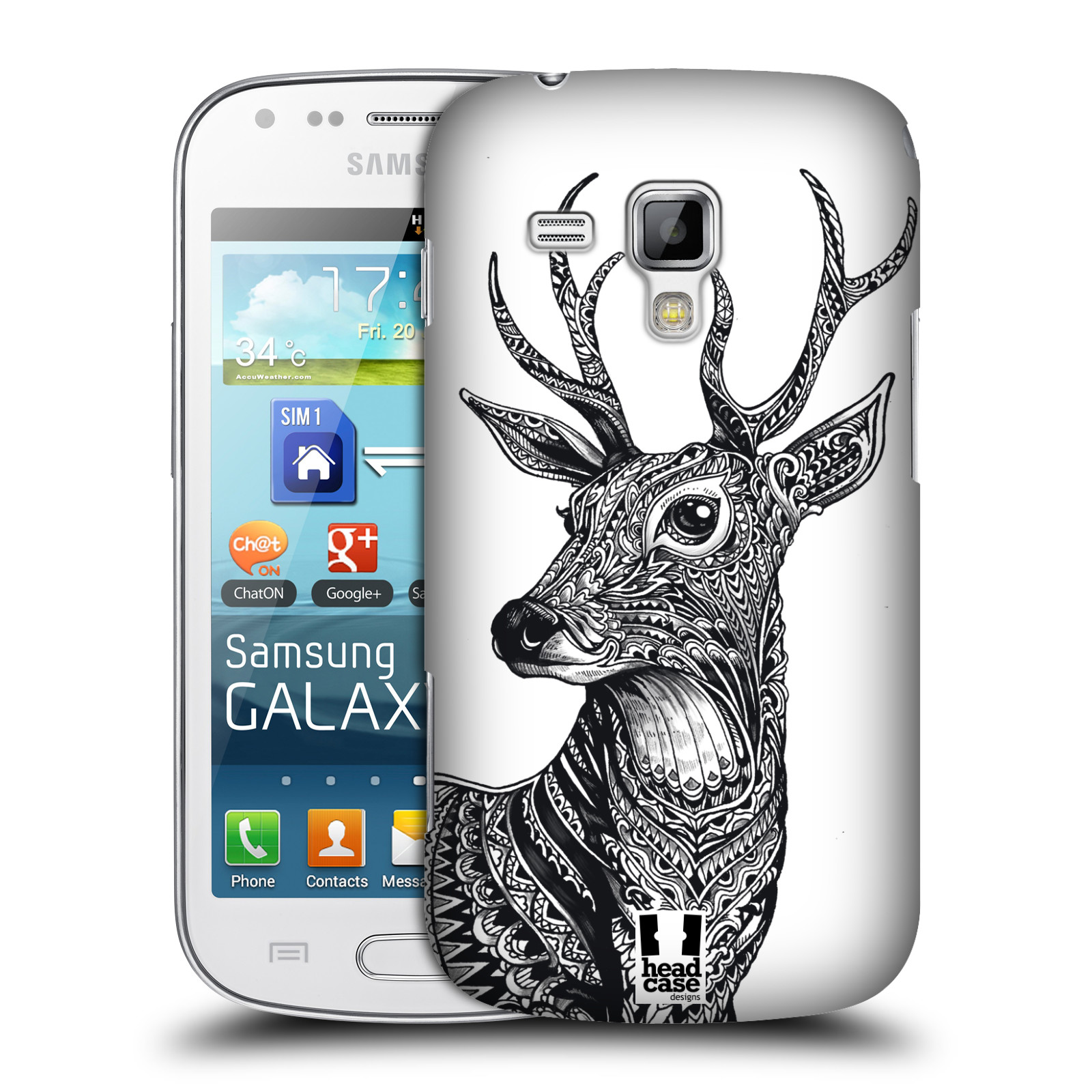 Plastové pouzdro na mobil Samsung Galaxy Trend Plus HEAD CASE Zdobený Jelínek (Plastový kryt či obal na mobilní telefon Samsung Galaxy Trend Plus GT-S7580)