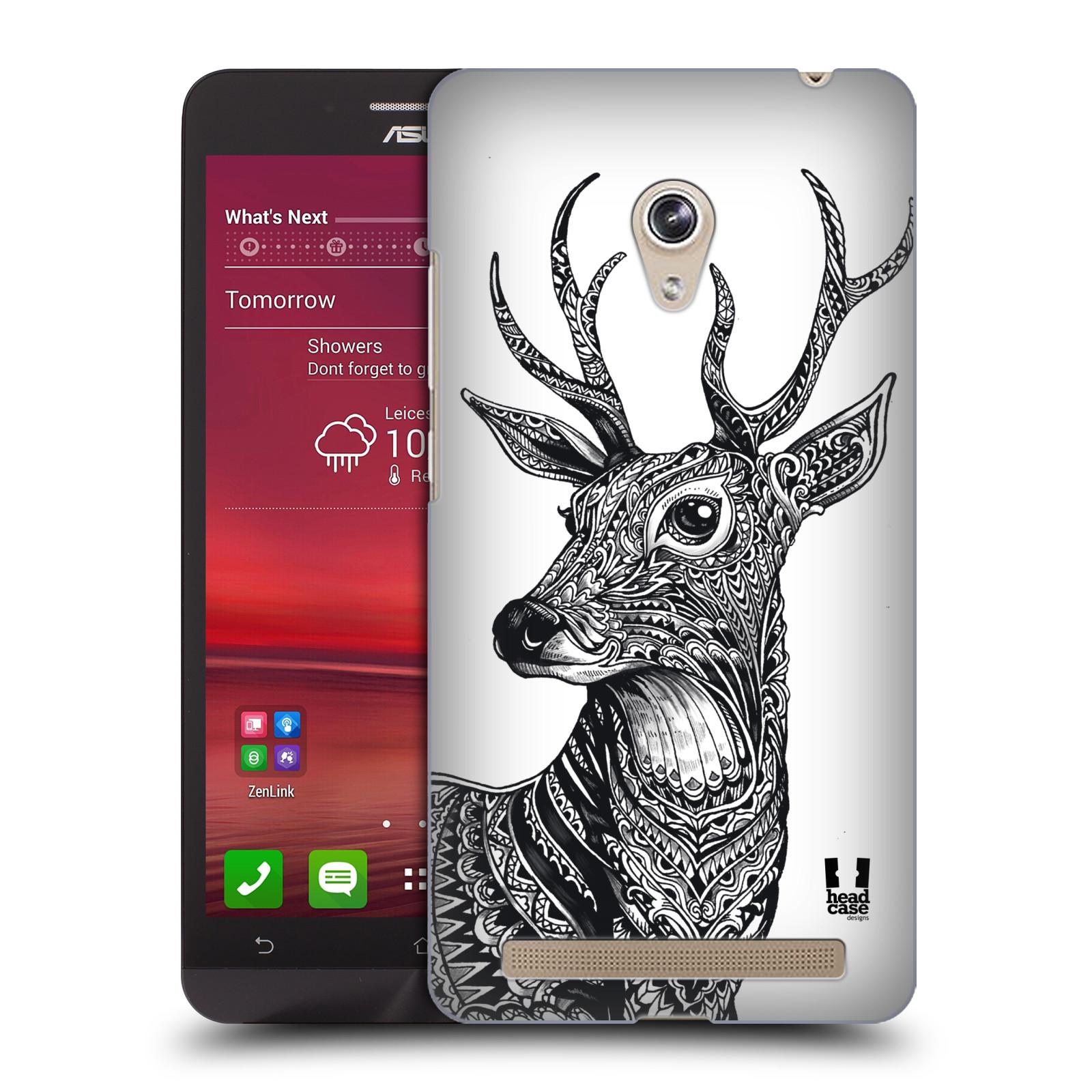 Plastové pouzdro na mobil Asus Zenfone 6 HEAD CASE Zdobený Jelínek (Plastový kryt či obal na mobilní telefon Asus Zenfone 6 A600CG / A601CG)