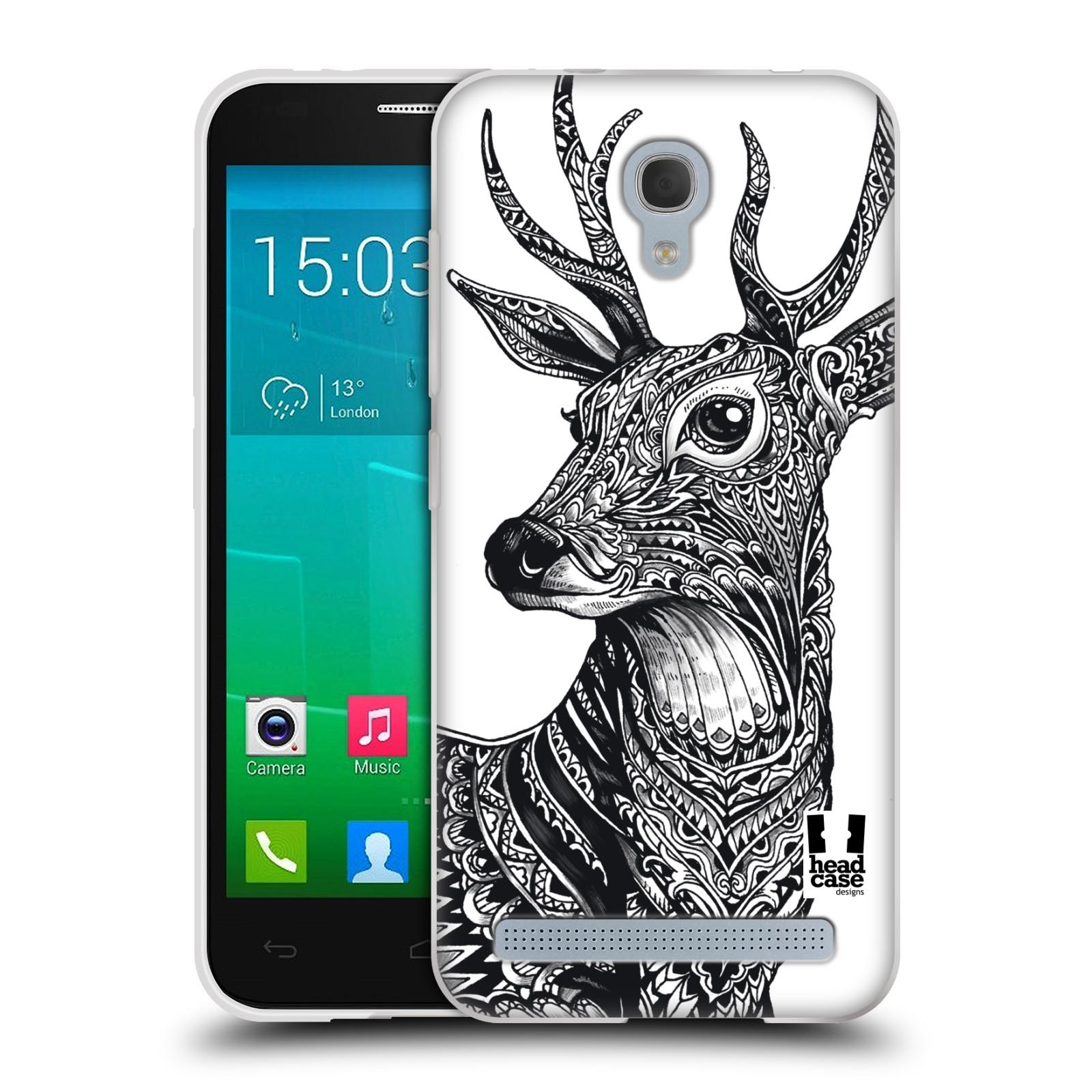 Silikonové pouzdro na mobil Alcatel One Touch Idol 2 Mini S 6036Y HEAD CASE Zdobený Jelínek (Silikonový kryt či obal na mobilní telefon Alcatel Idol 2 Mini S OT-6036Y)