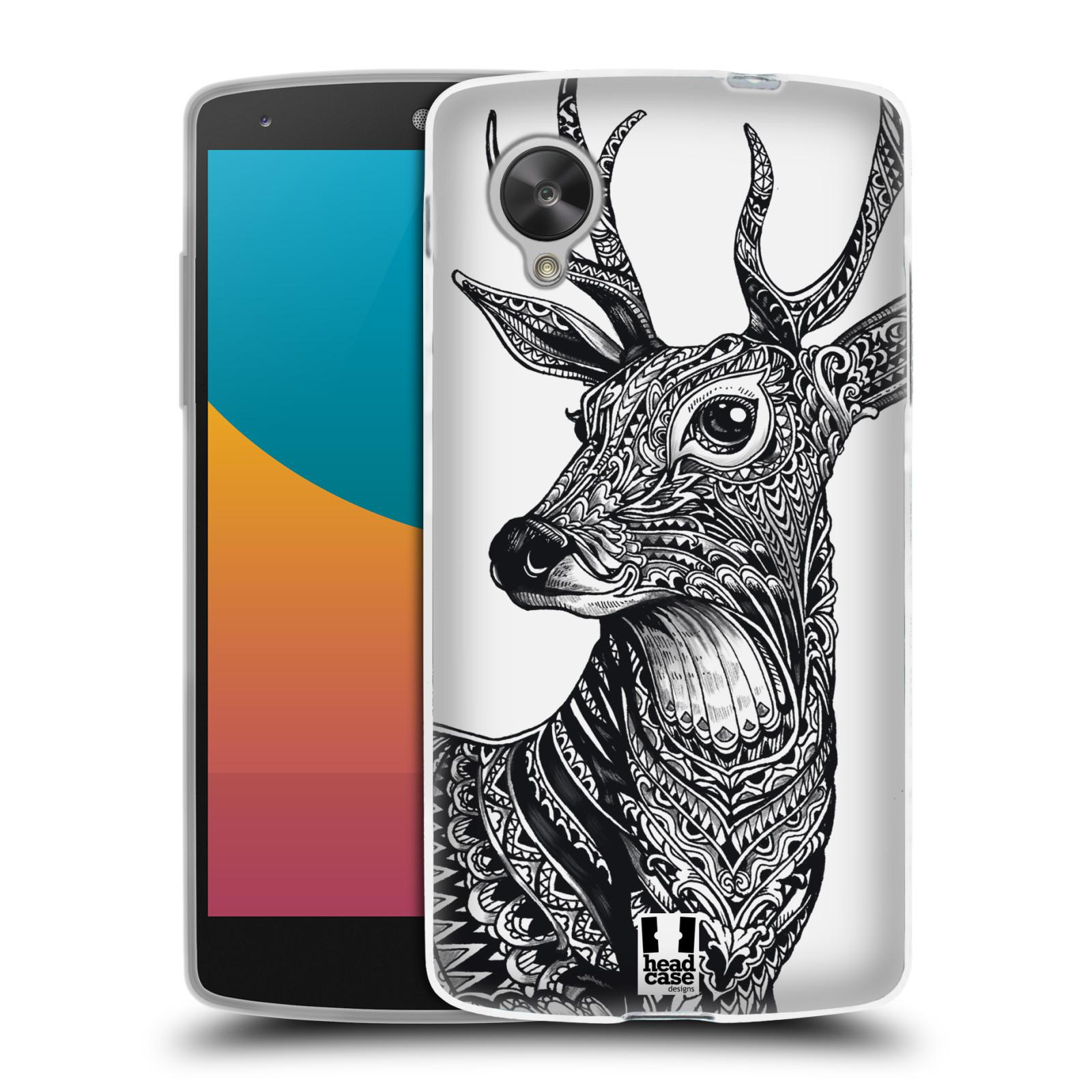 Silikonové pouzdro na mobil LG Nexus 5 HEAD CASE Zdobený Jelínek (Silikonový kryt či obal na mobilní telefon LG Google Nexus 5 D821)