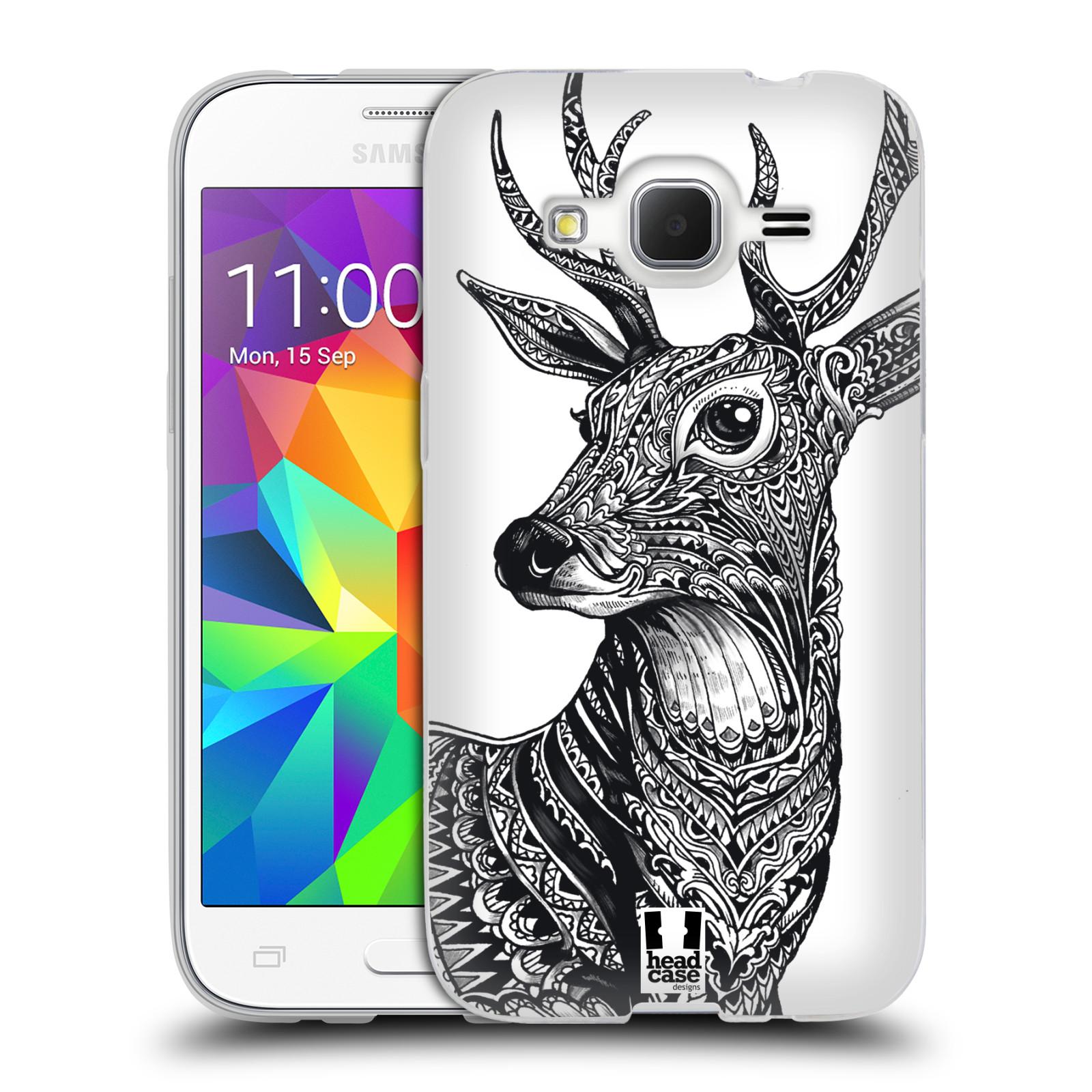 Silikonové pouzdro na mobil Samsung Galaxy Core Prime LTE HEAD CASE Zdobený Jelínek (Silikonový kryt či obal na mobilní telefon Samsung Galaxy Core Prime LTE SM-G360)