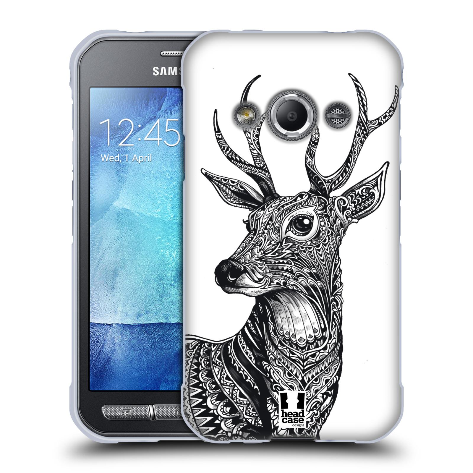 Silikonové pouzdro na mobil Samsung Galaxy Xcover 3 HEAD CASE Zdobený Jelínek (Silikonový kryt či obal na mobilní telefon Samsung Galaxy Xcover 3 SM-G388F)