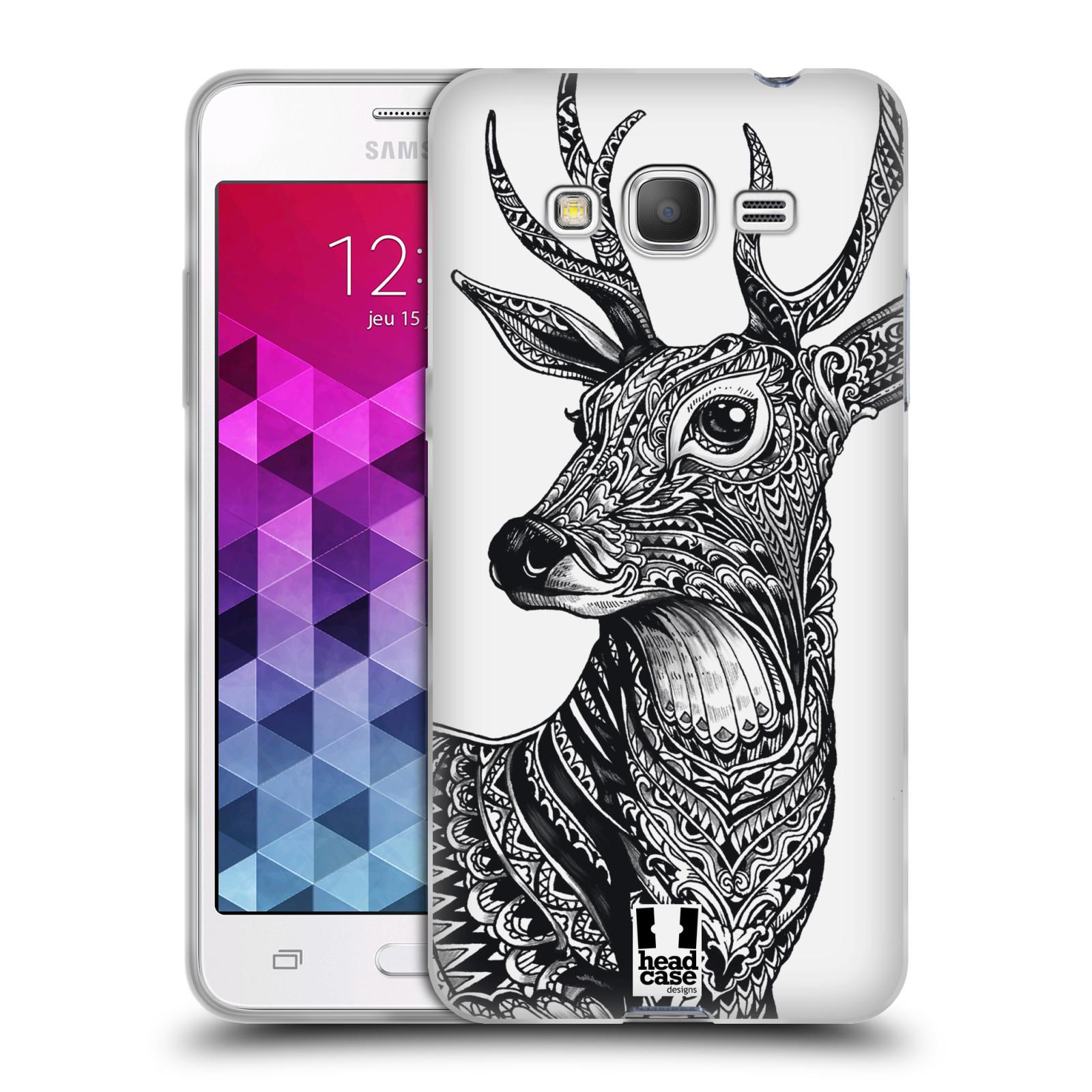 Silikonové pouzdro na mobil Samsung Galaxy Grand Prime VE HEAD CASE Zdobený Jelínek