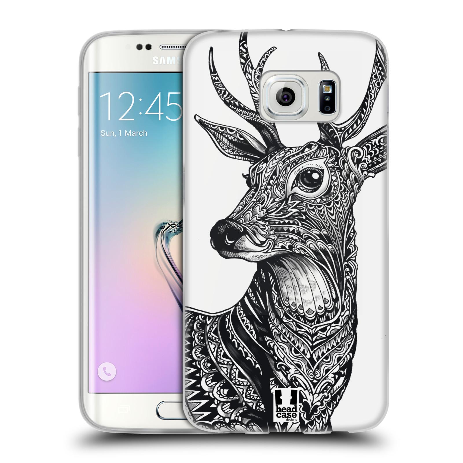 Silikonové pouzdro na mobil Samsung Galaxy S6 Edge HEAD CASE Zdobený Jelínek (Silikonový kryt či obal na mobilní telefon Samsung Galaxy S6 Edge SM-G925F)