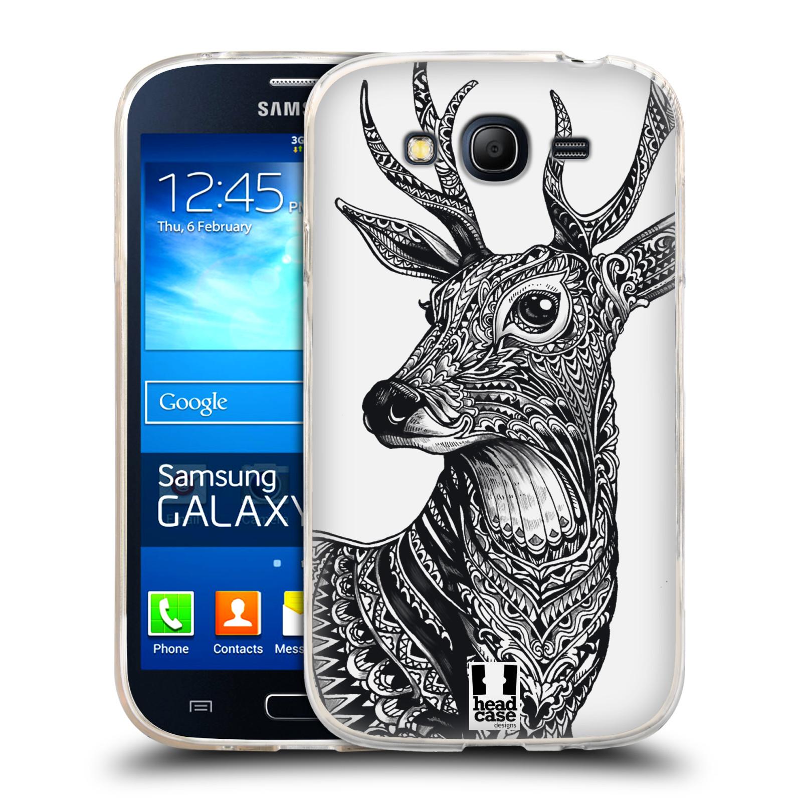 Silikonové pouzdro na mobil Samsung Galaxy Grand Neo HEAD CASE Zdobený Jelínek (Silikonový kryt či obal na mobilní telefon Samsung Galaxy Grand Neo GT-I9060)