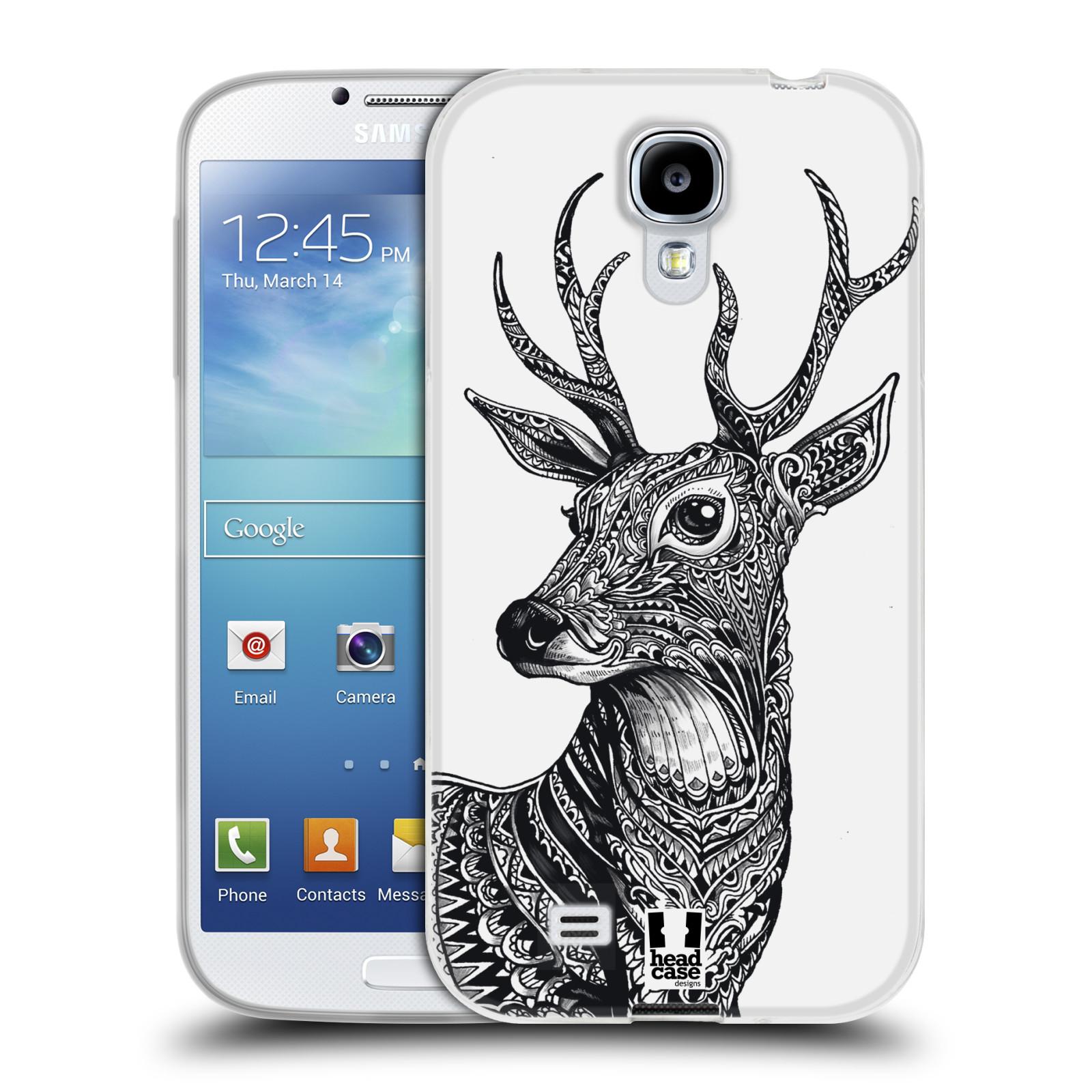 Silikonové pouzdro na mobil Samsung Galaxy S4 HEAD CASE Zdobený Jelínek (Silikonový kryt či obal na mobilní telefon Samsung Galaxy S4 GT-i9505 / i9500)