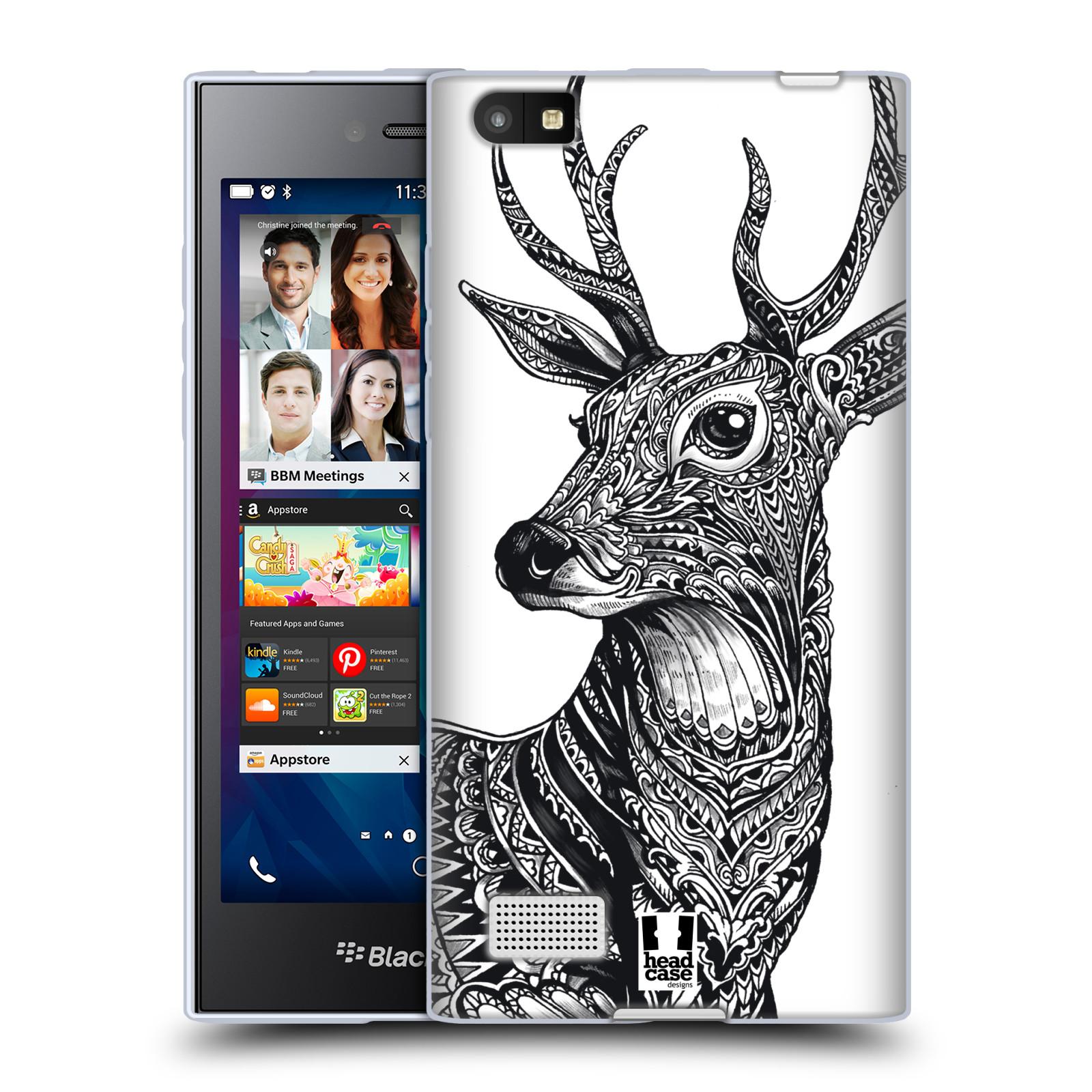 Silikonové pouzdro na mobil Blackberry Leap HEAD CASE Zdobený Jelínek (Silikonový kryt či obal na mobilní telefon Blackberry Leap)