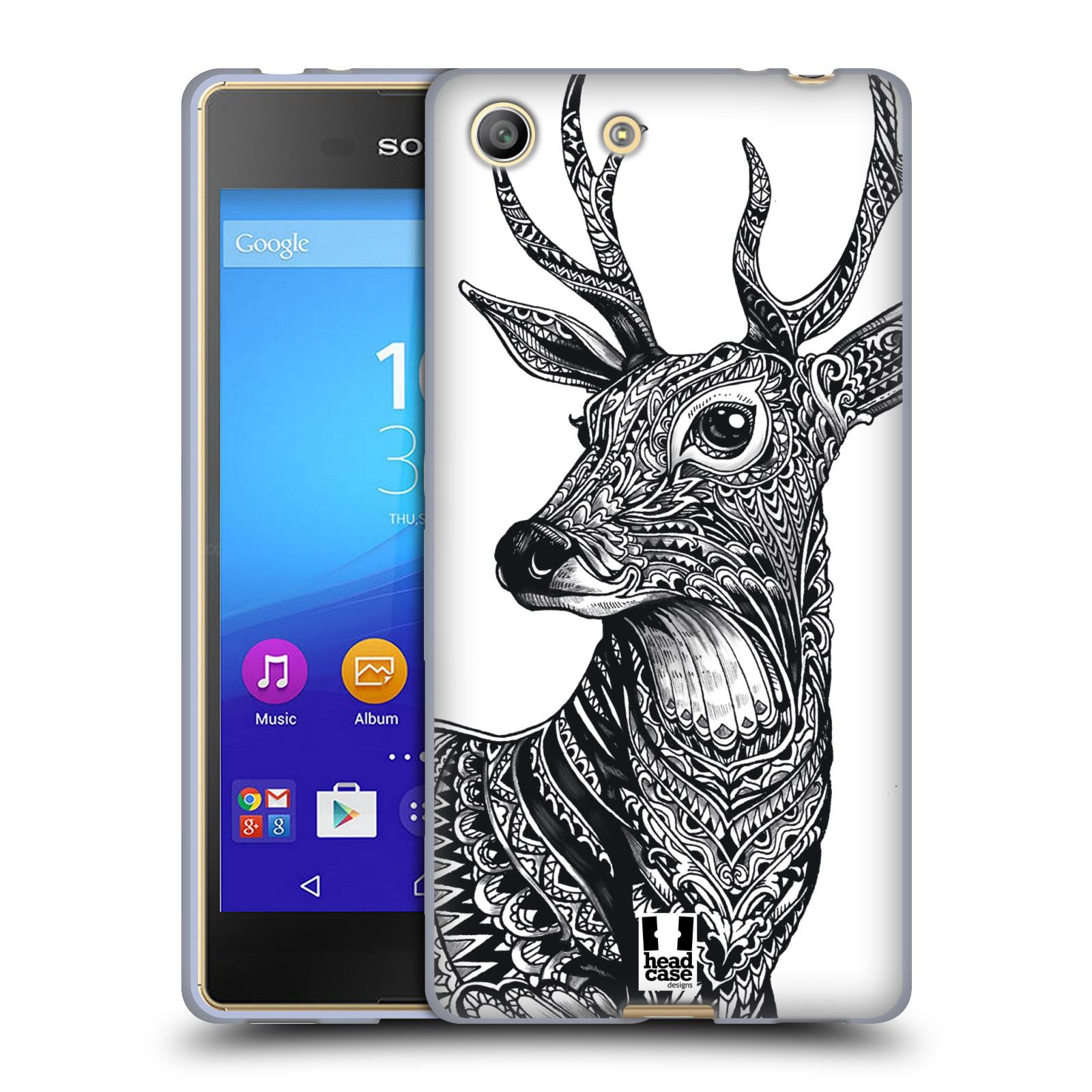 Silikonové pouzdro na mobil Sony Xperia M5 HEAD CASE Zdobený Jelínek (Silikonový kryt či obal na mobilní telefon Sony Xperia M5 Dual SIM / Aqua)