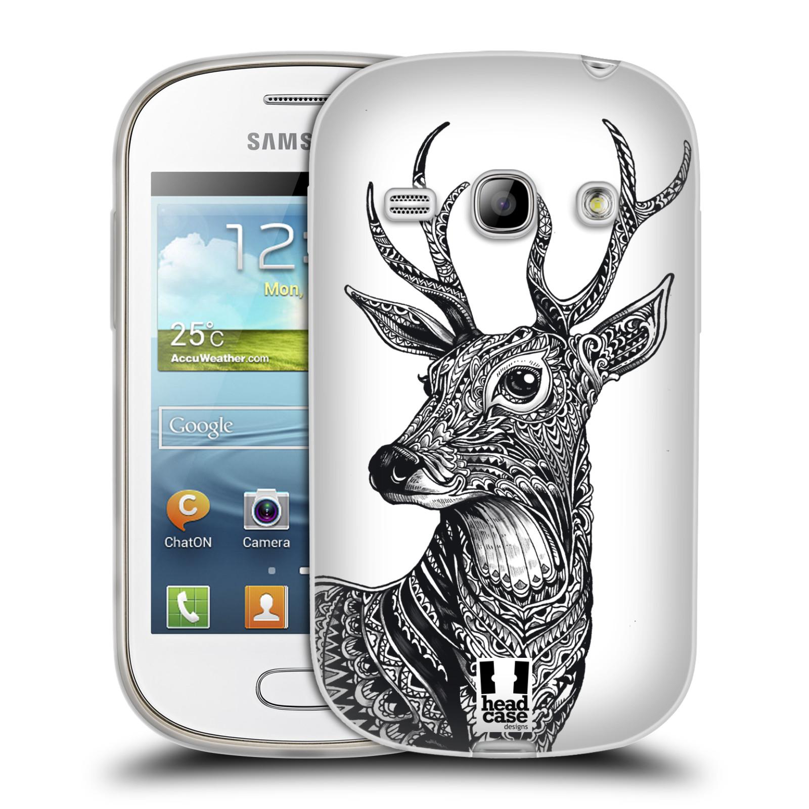 Silikonové pouzdro na mobil Samsung Galaxy Fame HEAD CASE Zdobený Jelínek (Silikonový kryt či obal na mobilní telefon Samsung Galaxy Fame GT-S6810)