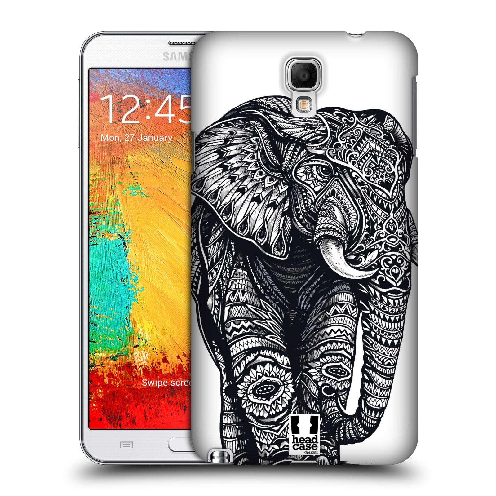 Plastové pouzdro na mobil Samsung Galaxy Note 3 Neo HEAD CASE Zdobený Slon (Plastový kryt či obal na mobilní telefon Samsung Galaxy Note 3 Neo SM-N7505)