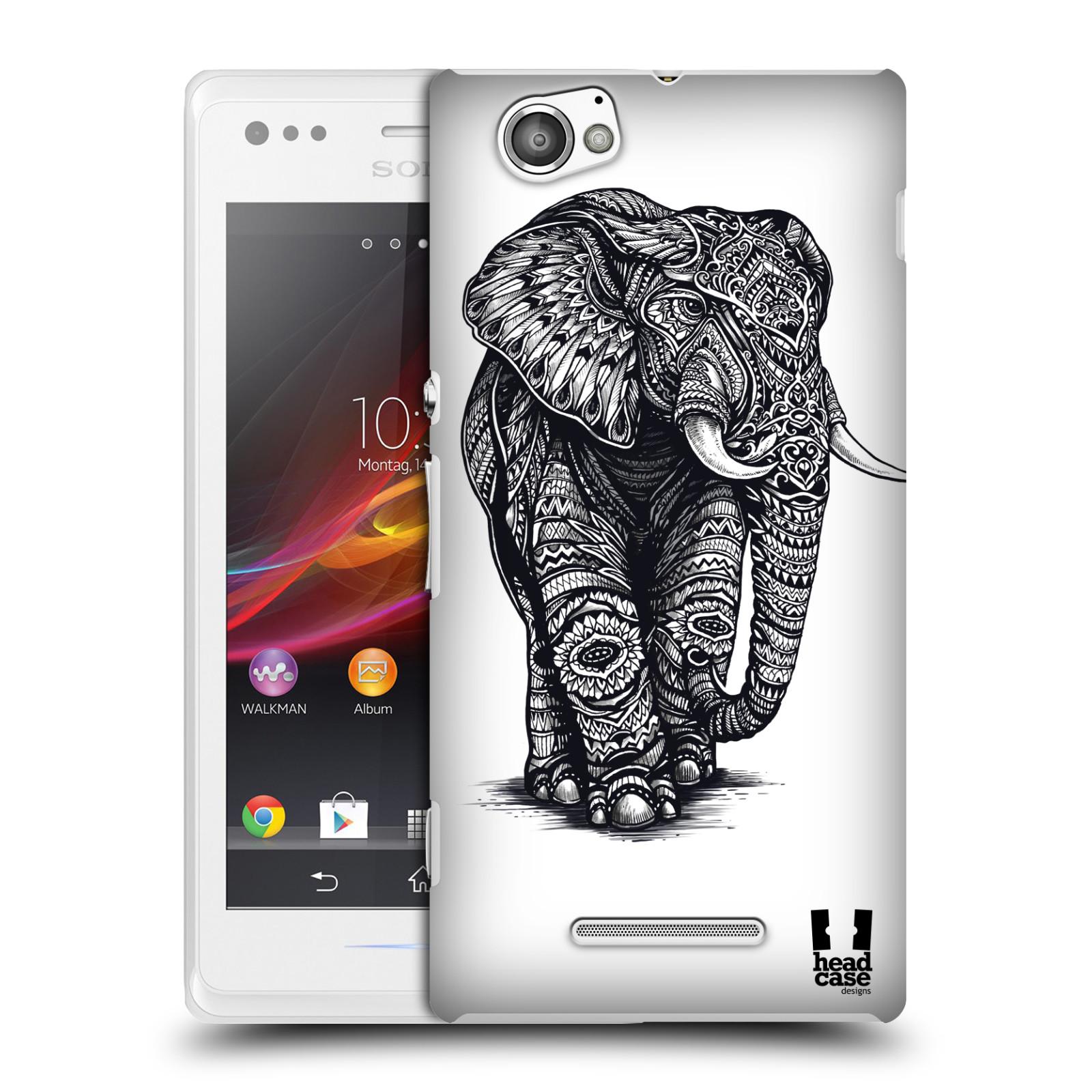 Plastové pouzdro na mobil Sony Xperia M C1905 HEAD CASE Zdobený Slon (Plastový kryt či obal na mobilní telefon Sony Xperia M )