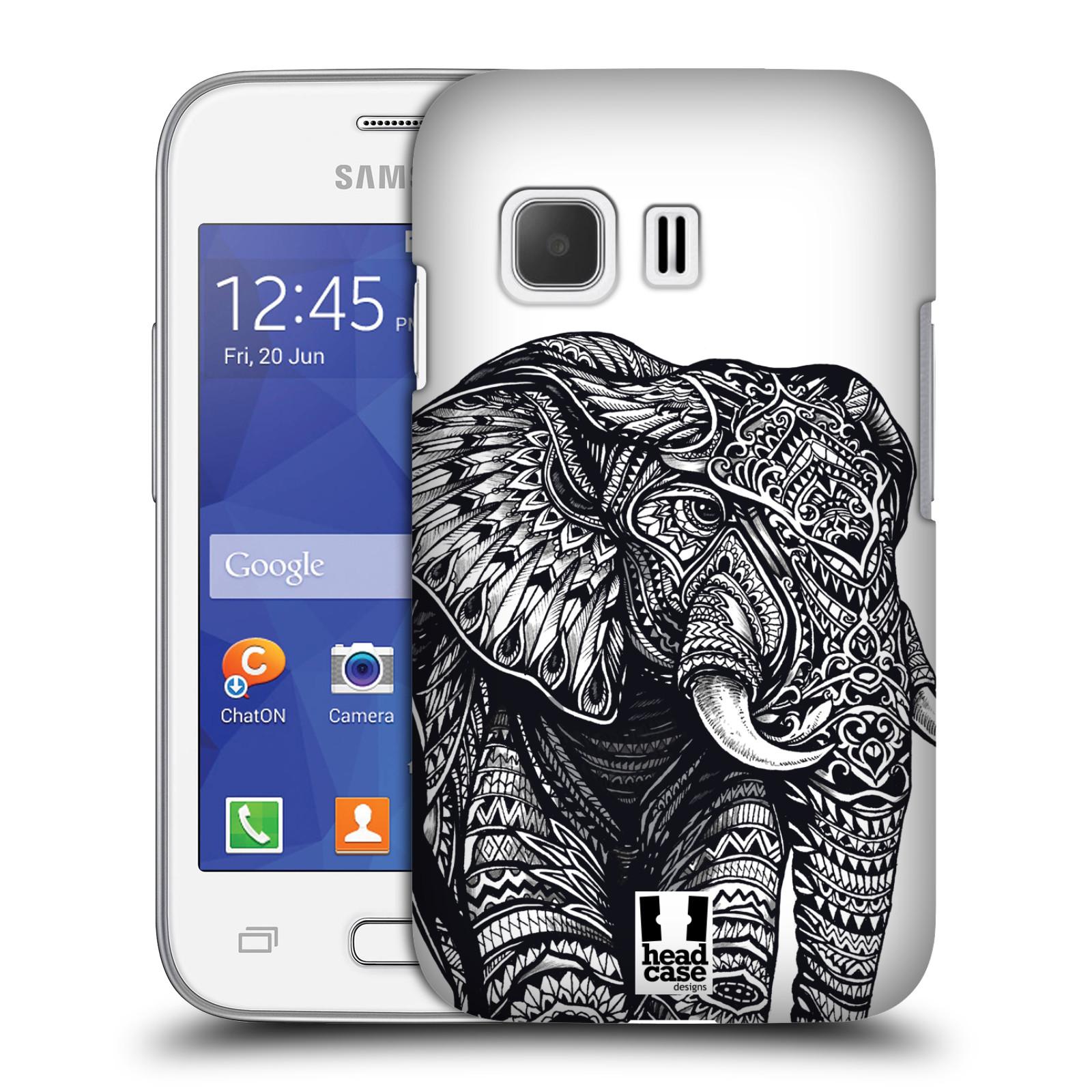 Plastové pouzdro na mobil Samsung Galaxy Young 2 HEAD CASE Zdobený Slon (Plastový kryt či obal na mobilní telefon Samsung Galaxy Young 2 SM-G130)
