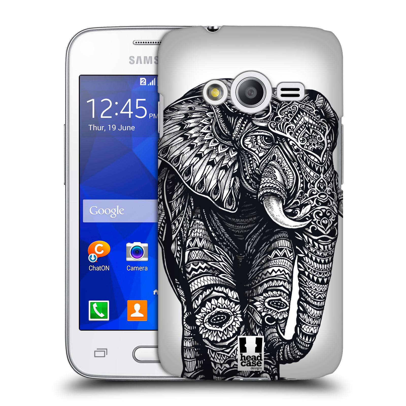 Plastové pouzdro na mobil Samsung Galaxy Trend 2 Lite HEAD CASE Zdobený Slon (Plastový kryt či obal na mobilní telefon Samsung Galaxy Trend 2 Lite SM-G318)