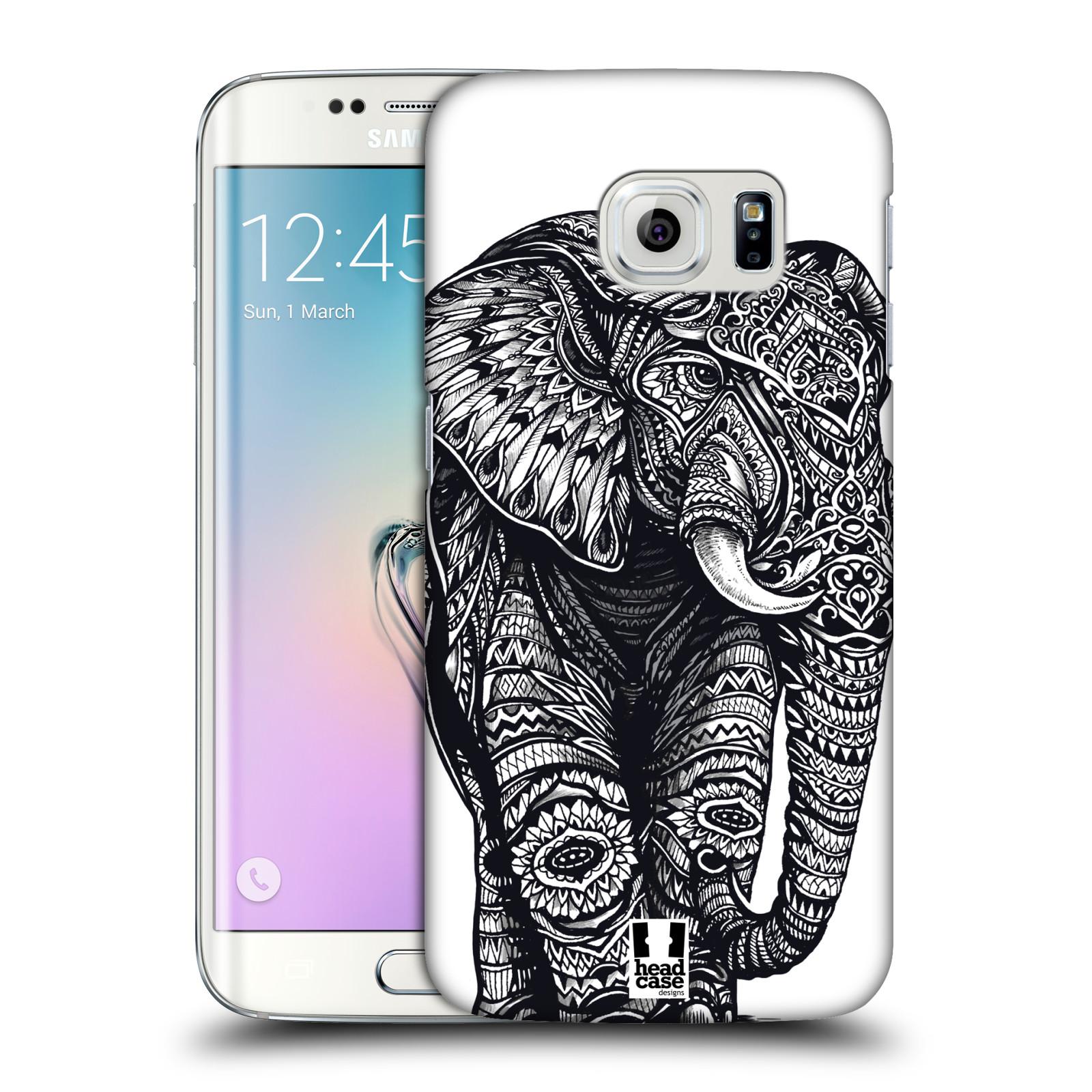 Plastové pouzdro na mobil Samsung Galaxy S6 Edge HEAD CASE Zdobený Slon (Plastový kryt či obal na mobilní telefon Samsung Galaxy S6 Edge SM-G925F)