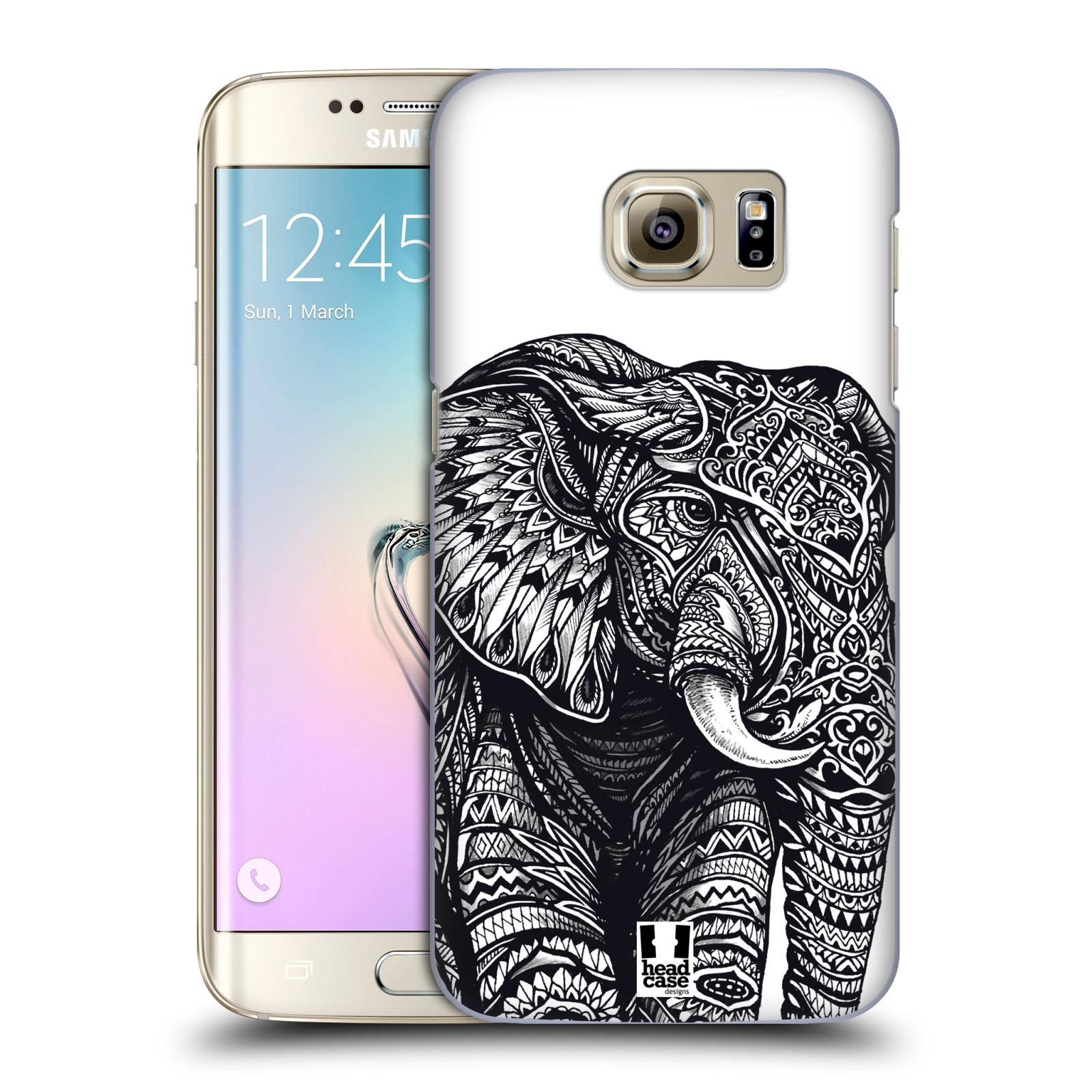 Plastové pouzdro na mobil Samsung Galaxy S7 Edge HEAD CASE Zdobený Slon (Plastový kryt či obal na mobilní telefon Samsung Galaxy S7 Edge SM-G935F)