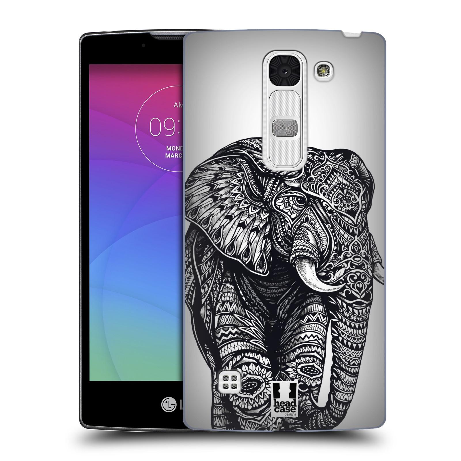 Plastové pouzdro na mobil LG Spirit LTE HEAD CASE Zdobený Slon (Plastový kryt či obal na mobilní telefon LG Spirit H420 a LG Spirit LTE H440N)