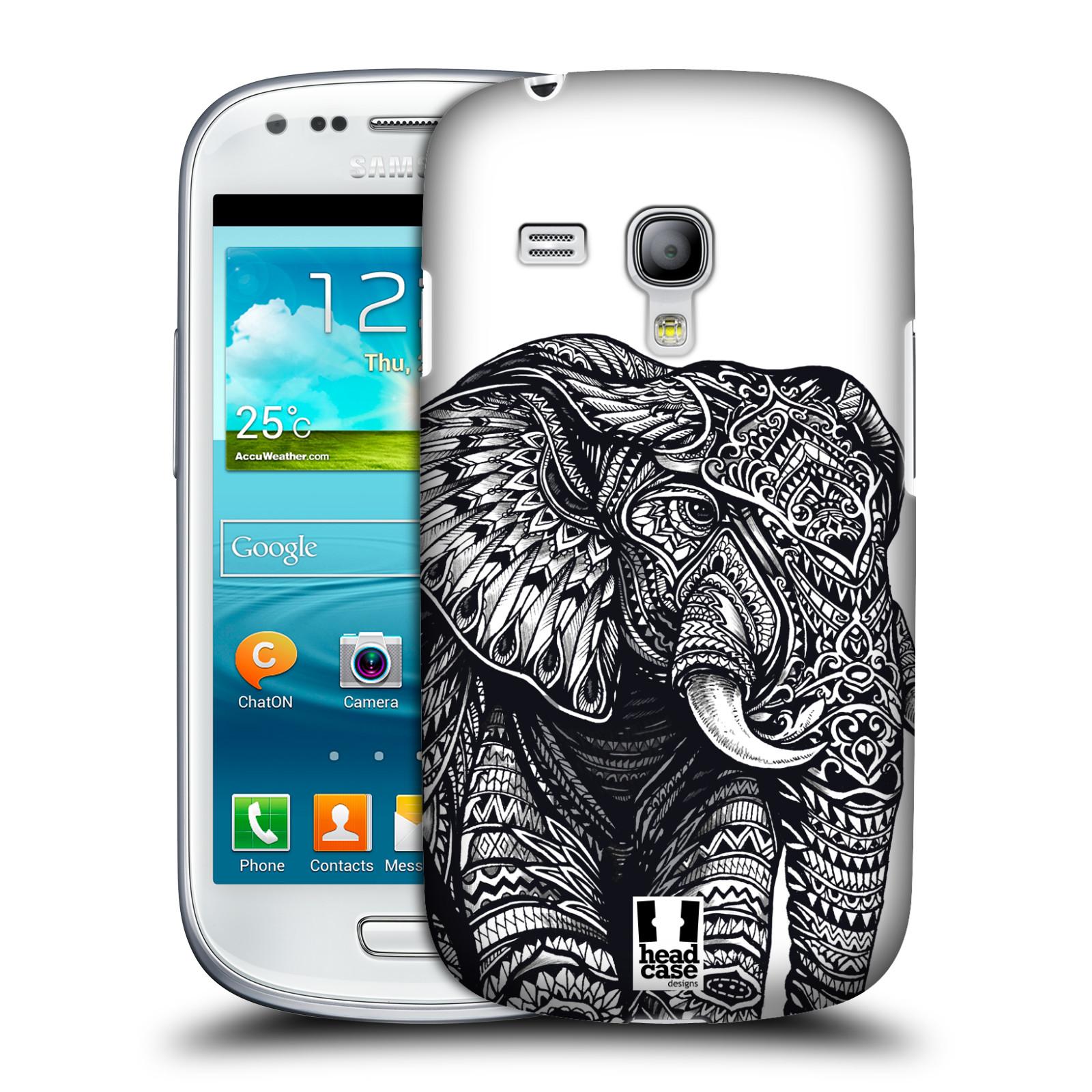 Plastové pouzdro na mobil Samsung Galaxy S III Mini HEAD CASE Zdobený Slon (Plastový kryt či obal na mobilní telefon Samsung Galaxy S III Mini GT-i8190)