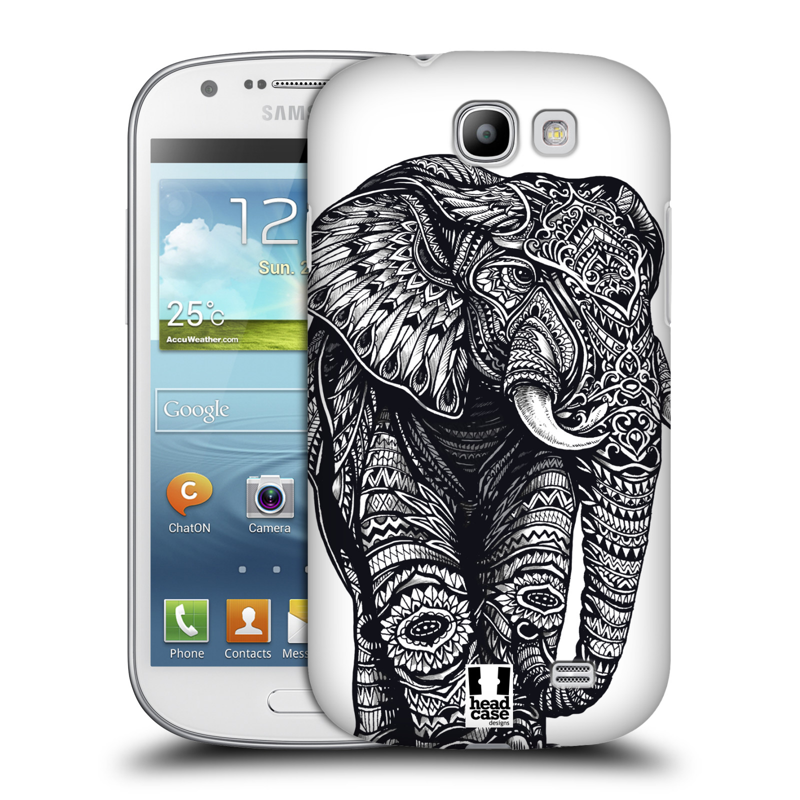 Plastové pouzdro na mobil Samsung Galaxy Express HEAD CASE Zdobený Slon (Plastový kryt či obal na mobilní telefon Samsung Galaxy Express GT-i8730)