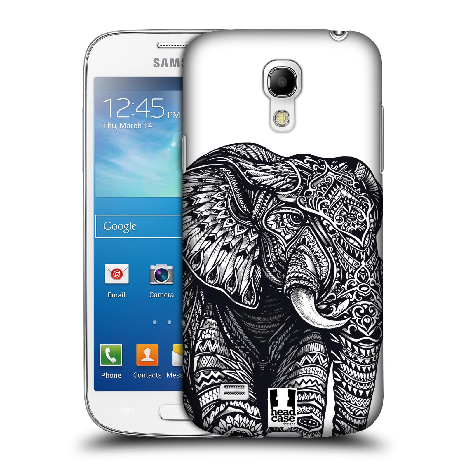 Plastové pouzdro na mobil Samsung Galaxy S4 Mini HEAD CASE Zdobený Slon (Plastový kryt či obal na mobilní telefon Samsung Galaxy S4 Mini GT-i9195 / i9190)