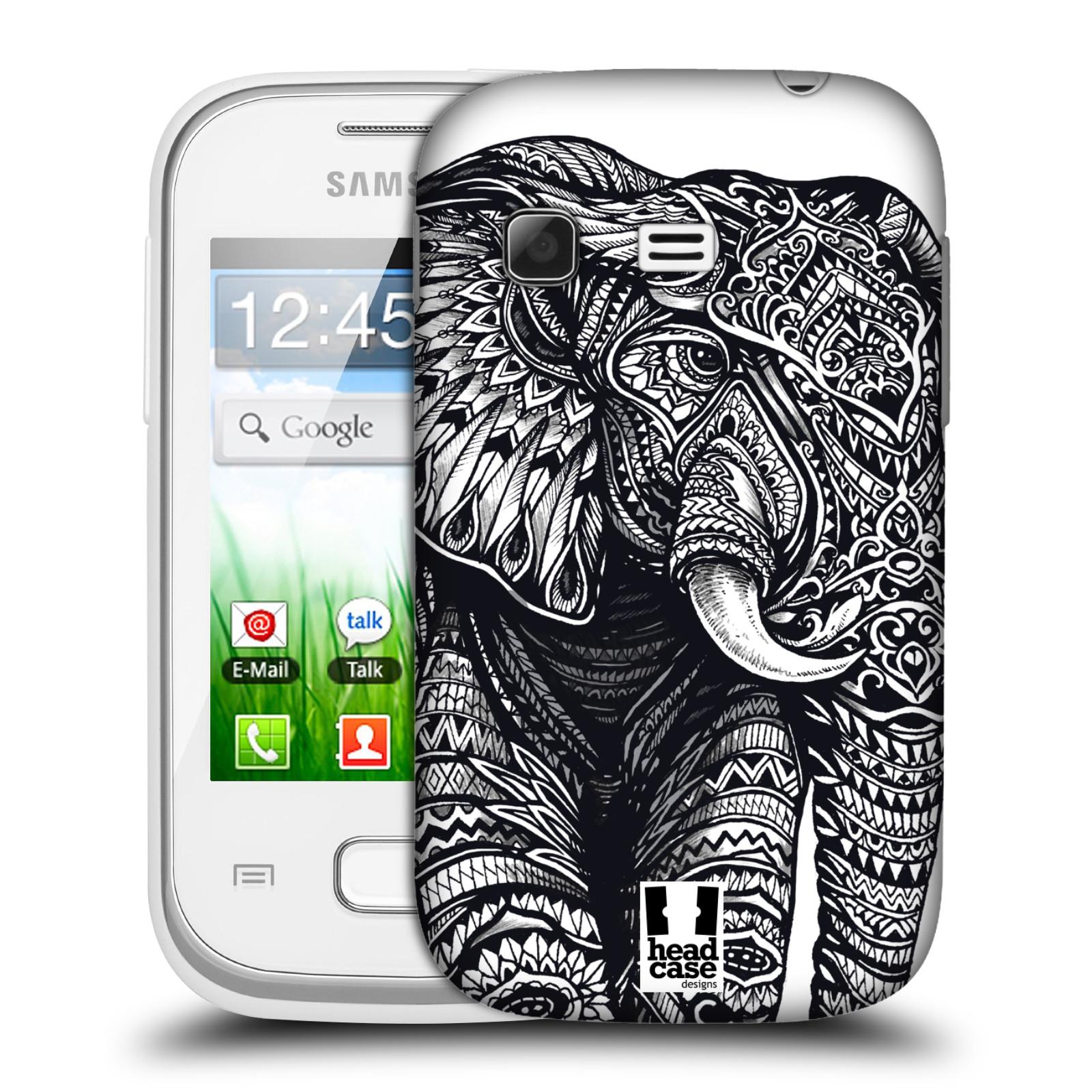 Plastové pouzdro na mobil Samsung Galaxy Pocket HEAD CASE Zdobený Slon (Plastový kryt či obal na mobilní telefon Samsung Galaxy Pocket GT-S5300)