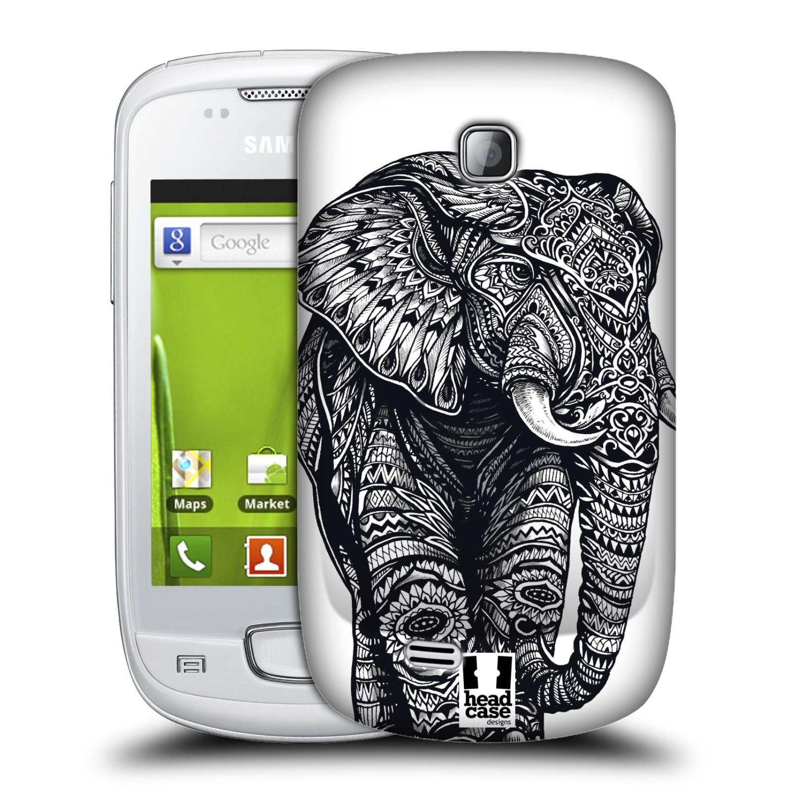 Plastové pouzdro na mobil Samsung Galaxy Mini HEAD CASE Zdobený Slon (Plastový kryt či obal na mobilní telefon Samsung Galaxy Mini GT-S5570 / GT-S5570i)
