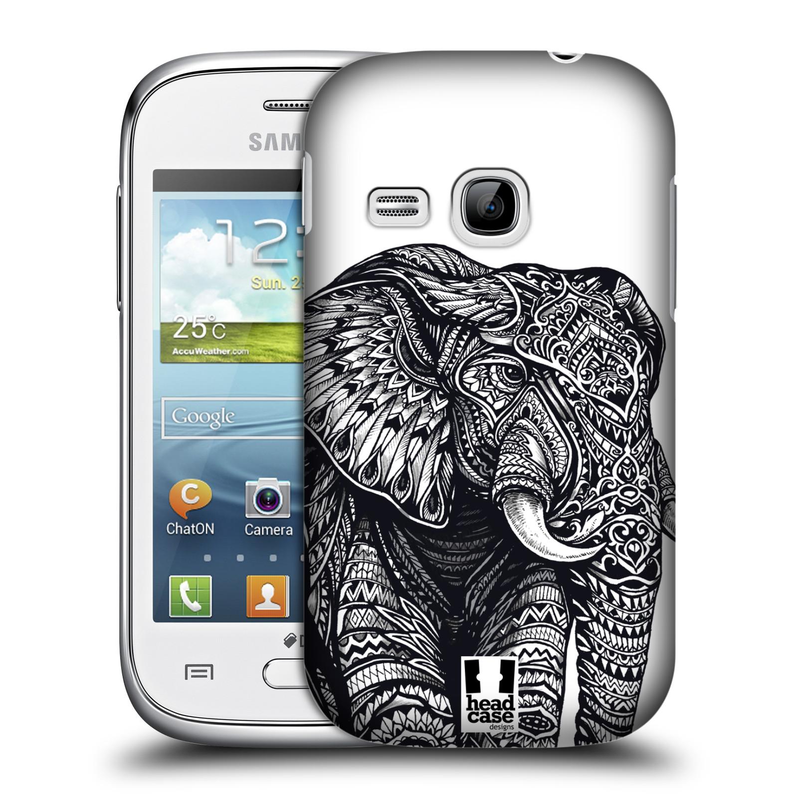 Plastové pouzdro na mobil Samsung Galaxy Young HEAD CASE Zdobený Slon (Plastový kryt či obal na mobilní telefon Samsung Galaxy Young GT-S6310)