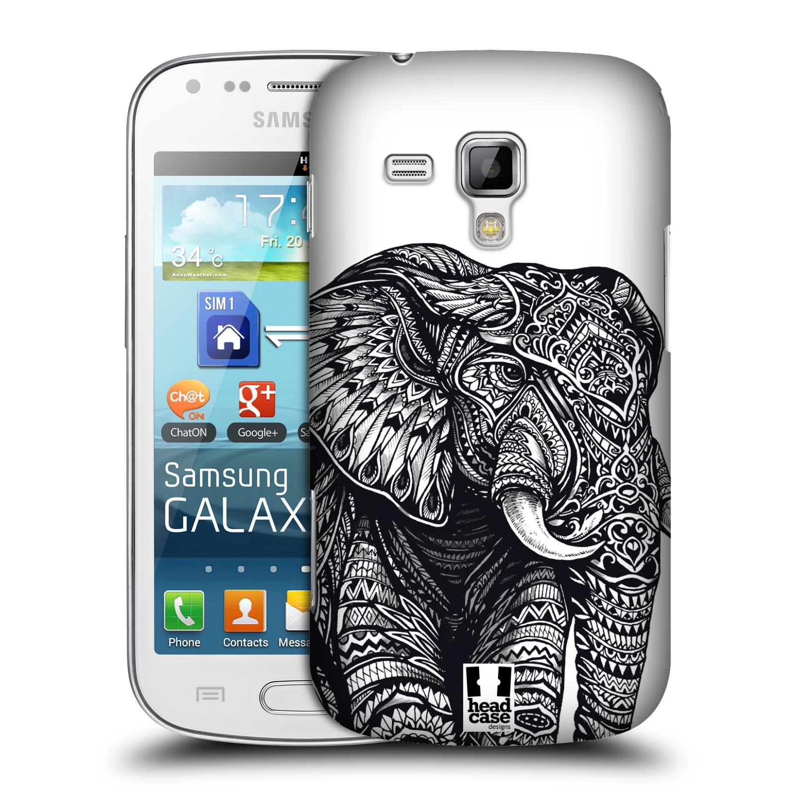 Plastové pouzdro na mobil Samsung Galaxy Trend Plus HEAD CASE Zdobený Slon (Plastový kryt či obal na mobilní telefon Samsung Galaxy Trend Plus GT-S7580)