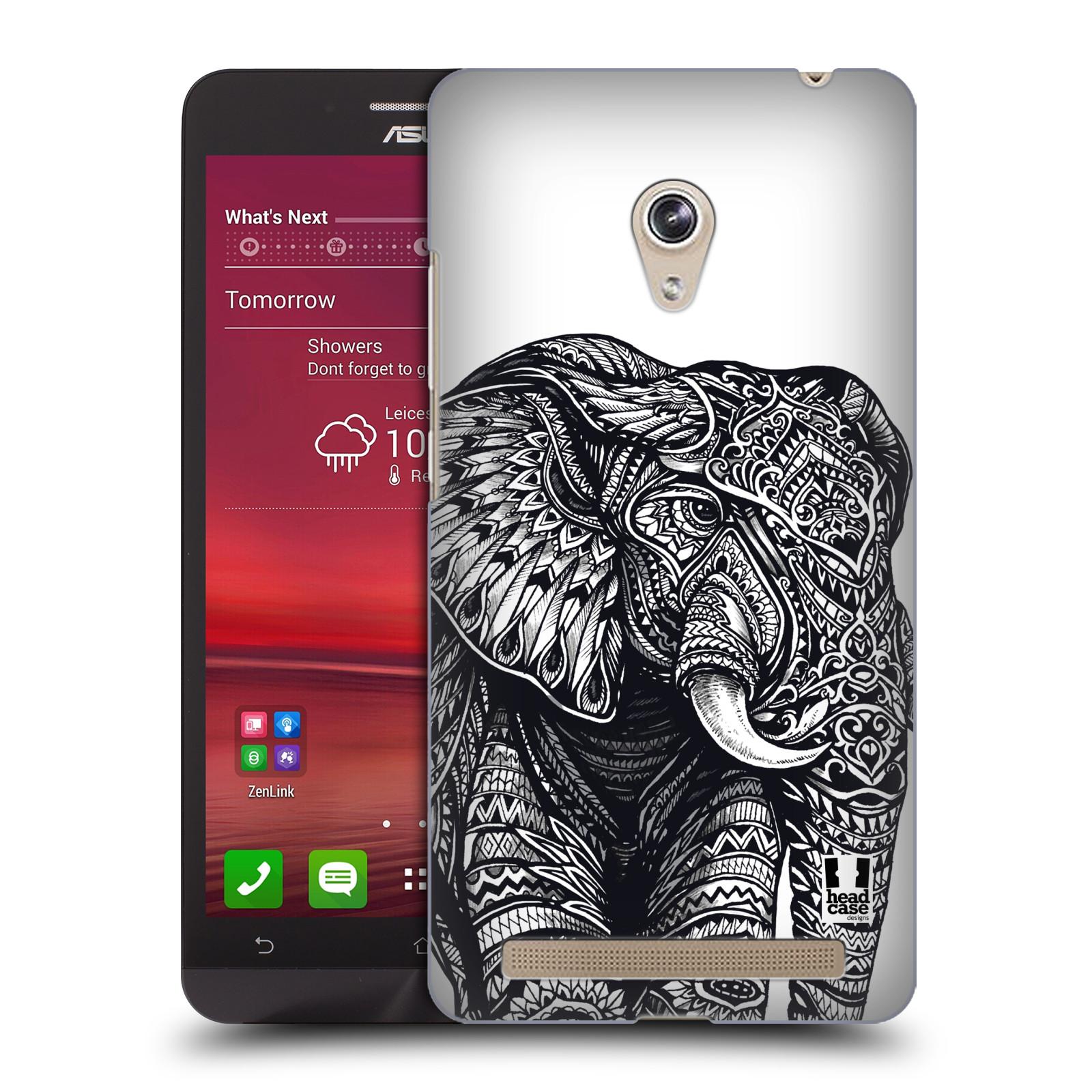 Plastové pouzdro na mobil Asus Zenfone 6 HEAD CASE Zdobený Slon (Plastový kryt či obal na mobilní telefon Asus Zenfone 6 A600CG / A601CG)