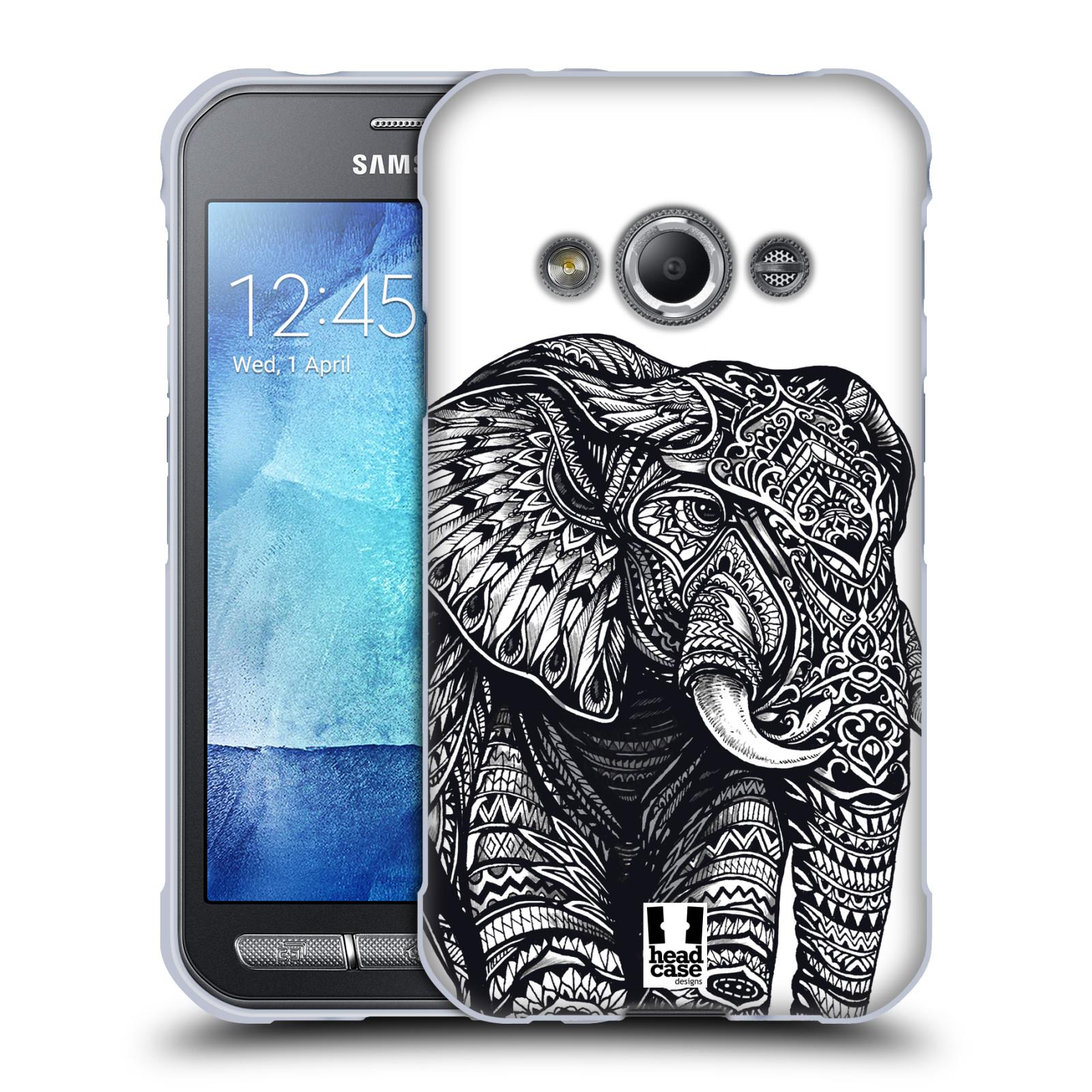 Silikonové pouzdro na mobil Samsung Galaxy Xcover 3 HEAD CASE Zdobený Slon (Silikonový kryt či obal na mobilní telefon Samsung Galaxy Xcover 3 SM-G388F)