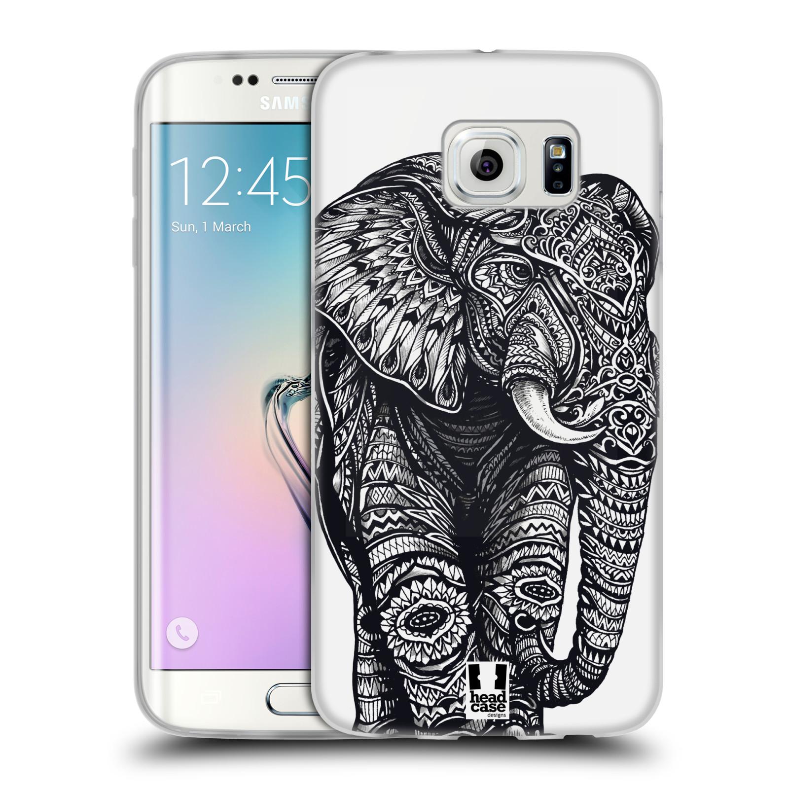 Silikonové pouzdro na mobil Samsung Galaxy S6 Edge HEAD CASE Zdobený Slon (Silikonový kryt či obal na mobilní telefon Samsung Galaxy S6 Edge SM-G925F)