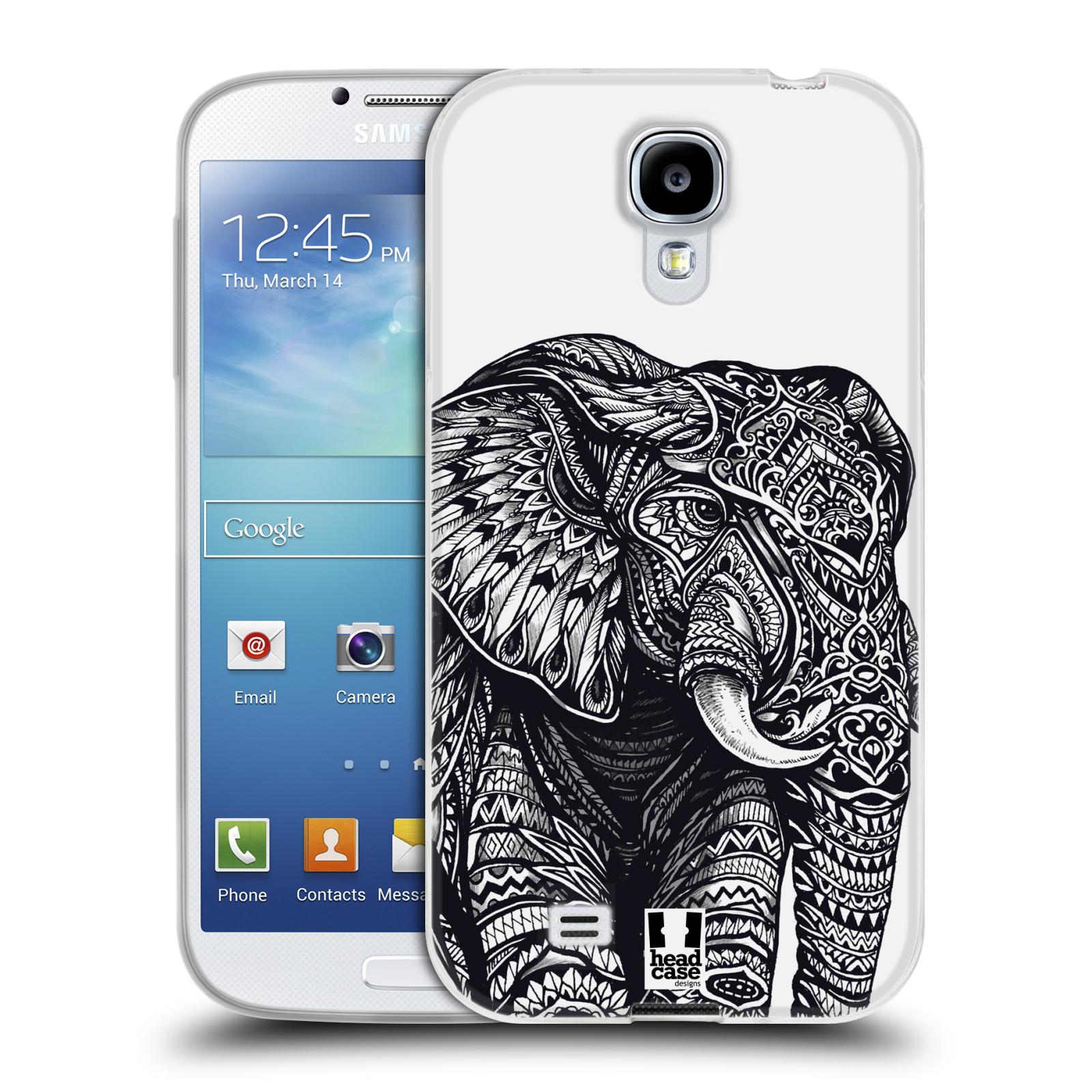 Silikonové pouzdro na mobil Samsung Galaxy S4 HEAD CASE Zdobený Slon (Silikonový kryt či obal na mobilní telefon Samsung Galaxy S4 GT-i9505 / i9500)