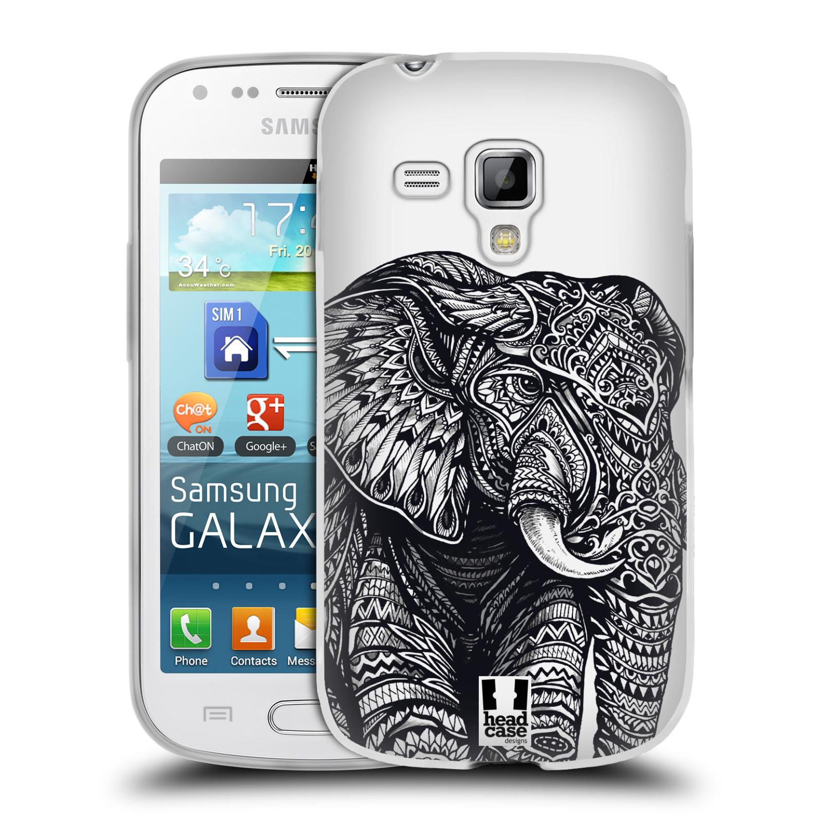 Silikonové pouzdro na mobil Samsung Galaxy Trend HEAD CASE Zdobený Slon (Silikonový kryt či obal na mobilní telefon Samsung Galaxy Trend GT-S7560)