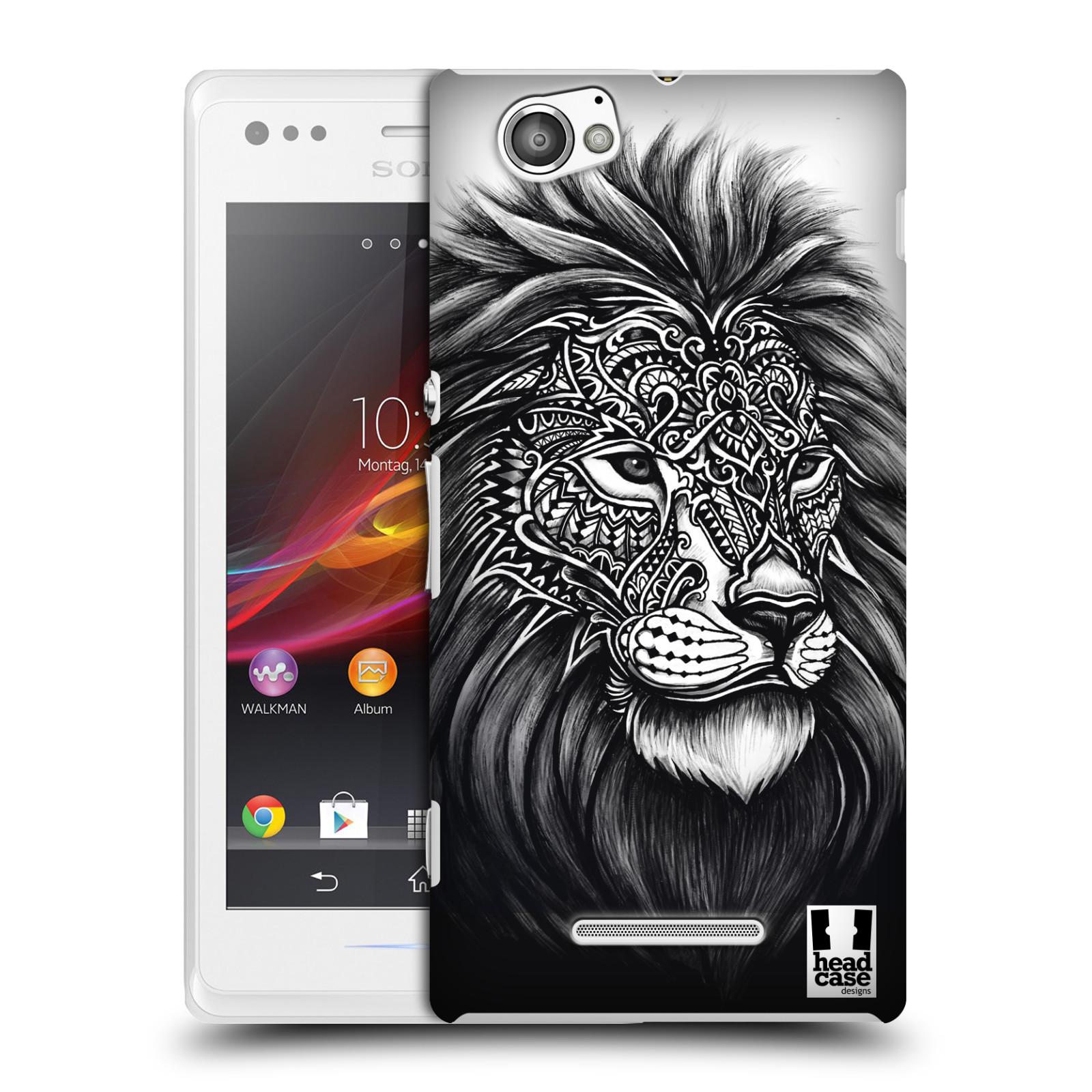 Plastové pouzdro na mobil Sony Xperia M C1905 HEAD CASE Zdobený Lev (Plastový kryt či obal na mobilní telefon Sony Xperia M )
