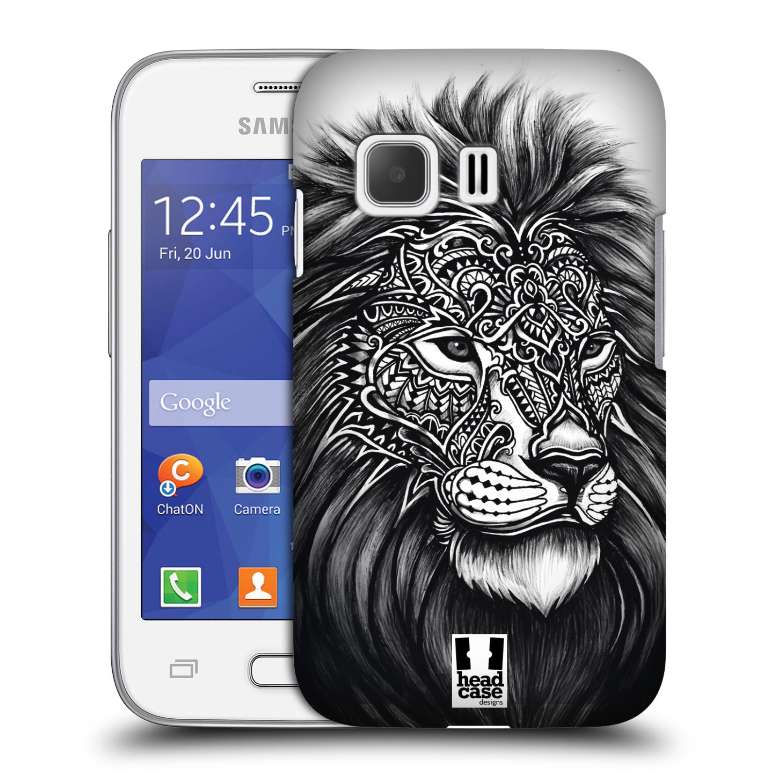 Plastové pouzdro na mobil Samsung Galaxy Young 2 HEAD CASE Zdobený Lev (Plastový kryt či obal na mobilní telefon Samsung Galaxy Young 2 SM-G130)