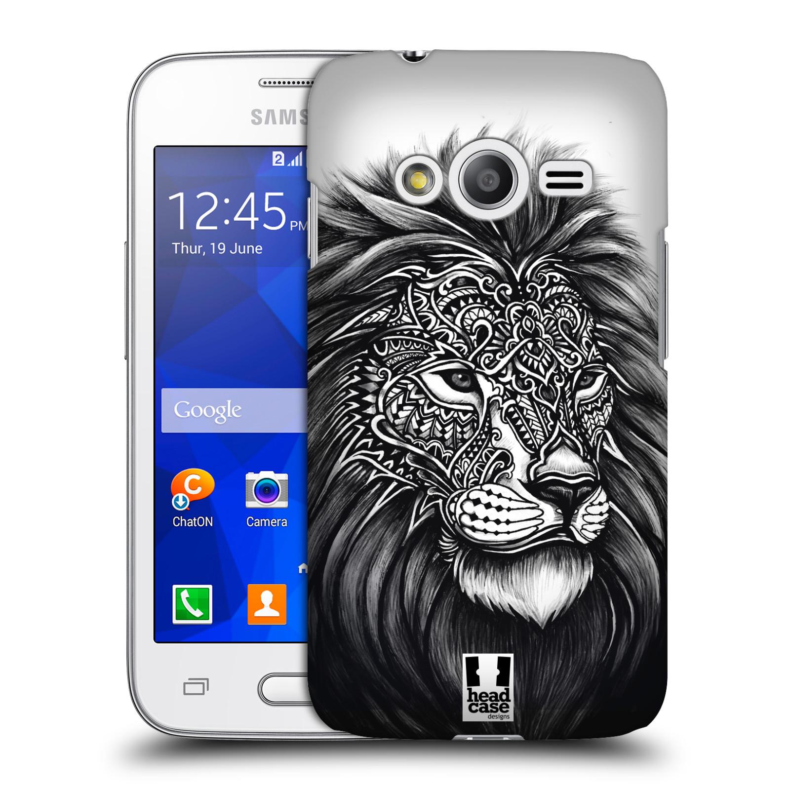 Plastové pouzdro na mobil Samsung Galaxy Trend 2 Lite HEAD CASE Zdobený Lev (Plastový kryt či obal na mobilní telefon Samsung Galaxy Trend 2 Lite SM-G318)