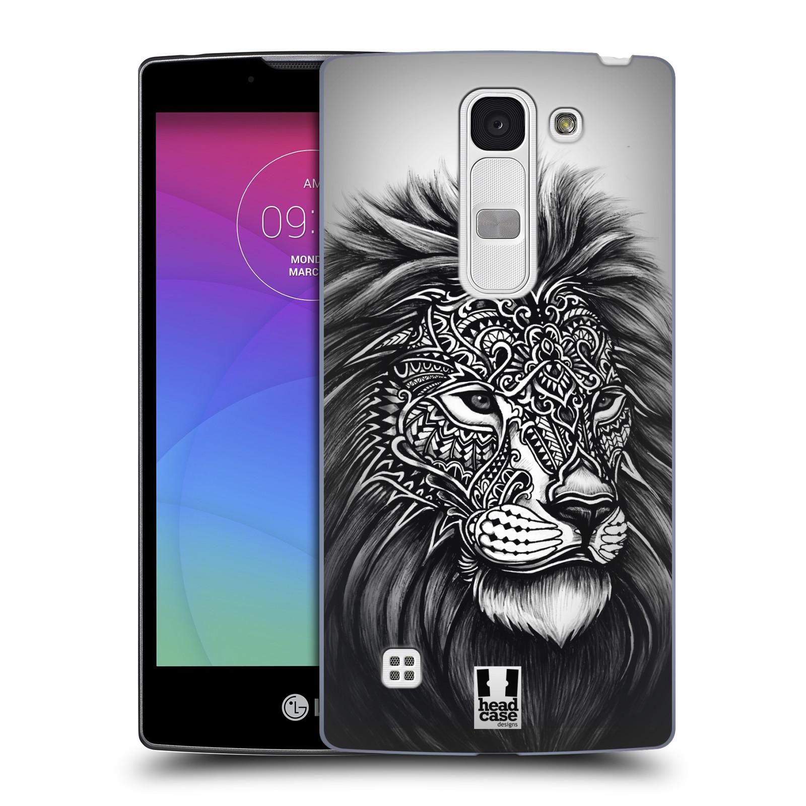 Plastové pouzdro na mobil LG Spirit LTE HEAD CASE Zdobený Lev (Plastový kryt či obal na mobilní telefon LG Spirit H420 a LG Spirit LTE H440N)