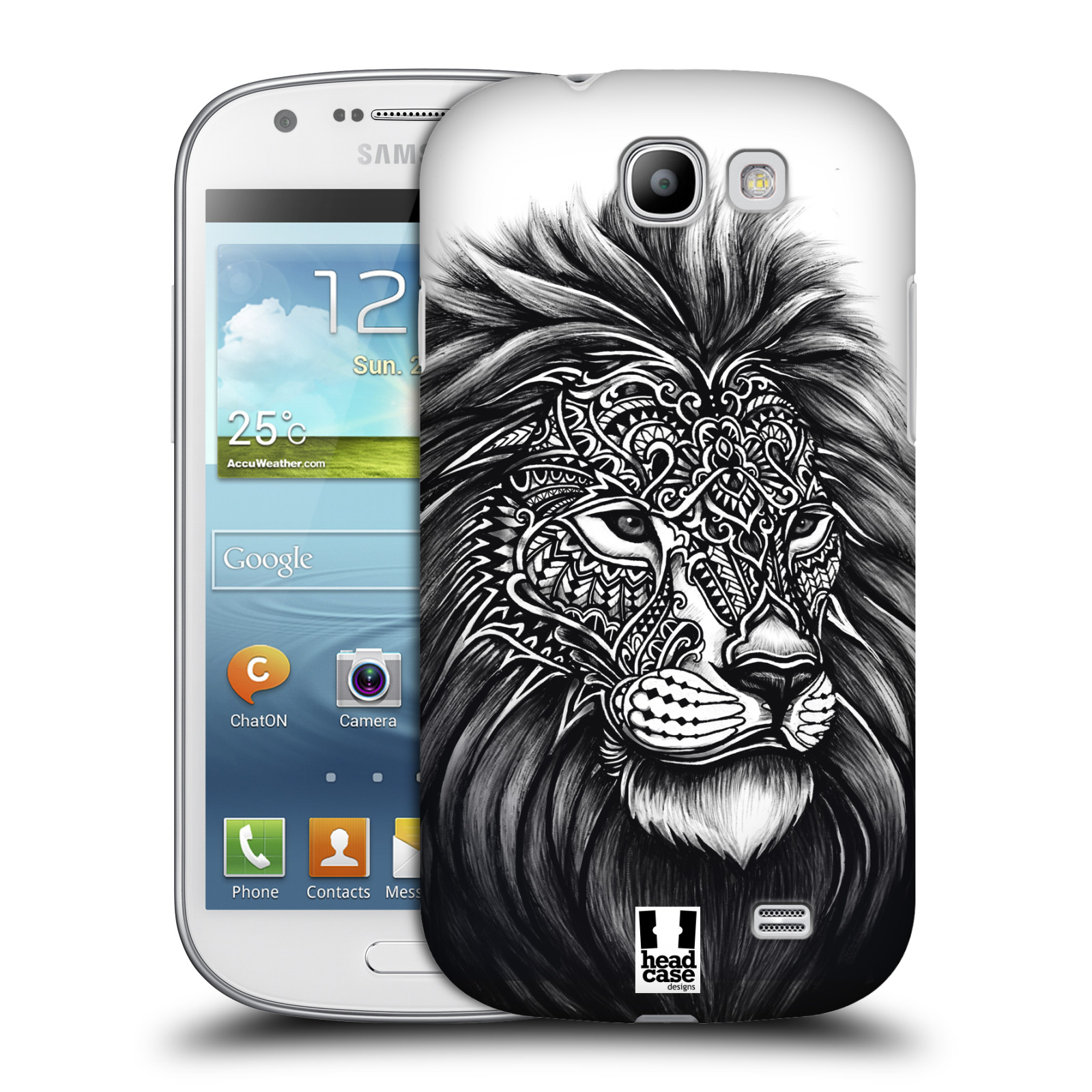 Plastové pouzdro na mobil Samsung Galaxy Express HEAD CASE Zdobený Lev (Plastový kryt či obal na mobilní telefon Samsung Galaxy Express GT-i8730)