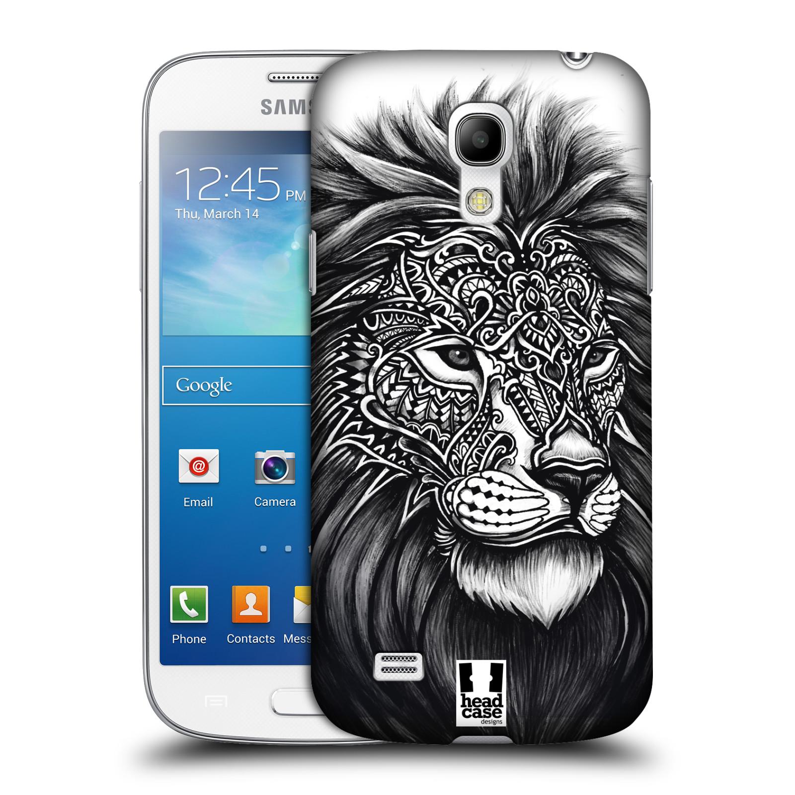 Plastové pouzdro na mobil Samsung Galaxy S4 Mini HEAD CASE Zdobený Lev (Plastový kryt či obal na mobilní telefon Samsung Galaxy S4 Mini GT-i9195 / i9190)