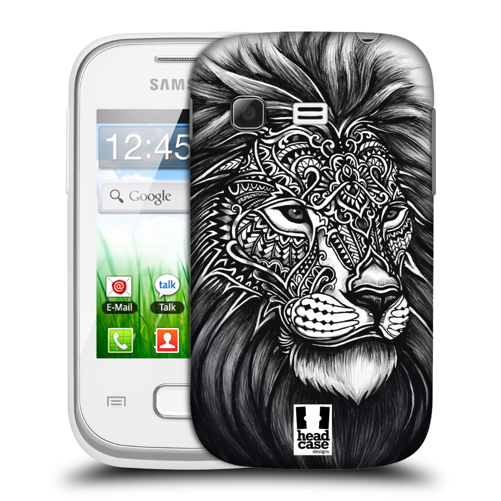 Plastové pouzdro na mobil Samsung Galaxy Pocket HEAD CASE Zdobený Lev (Plastový kryt či obal na mobilní telefon Samsung Galaxy Pocket GT-S5300)