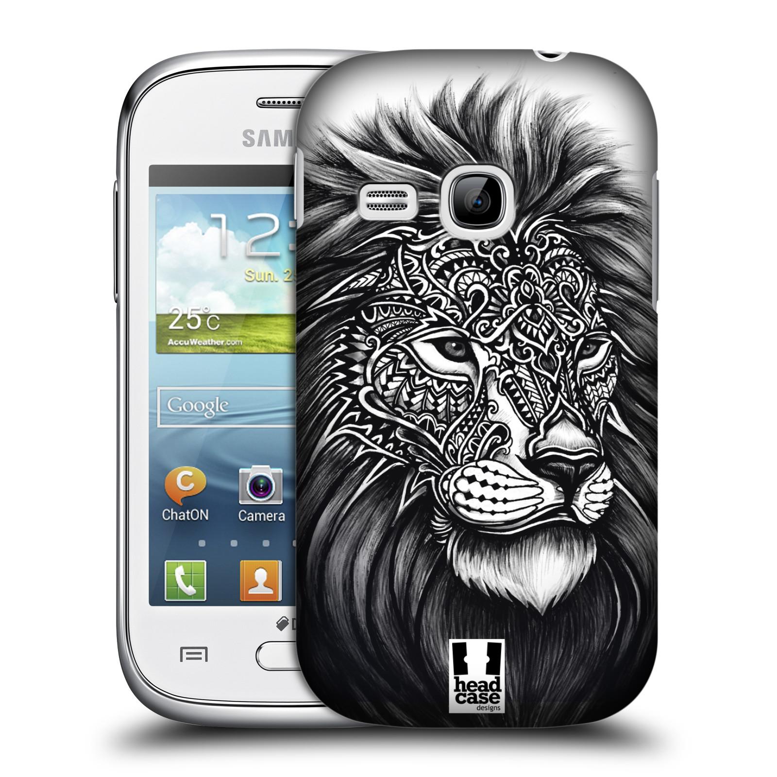 Plastové pouzdro na mobil Samsung Galaxy Young HEAD CASE Zdobený Lev (Plastový kryt či obal na mobilní telefon Samsung Galaxy Young GT-S6310)