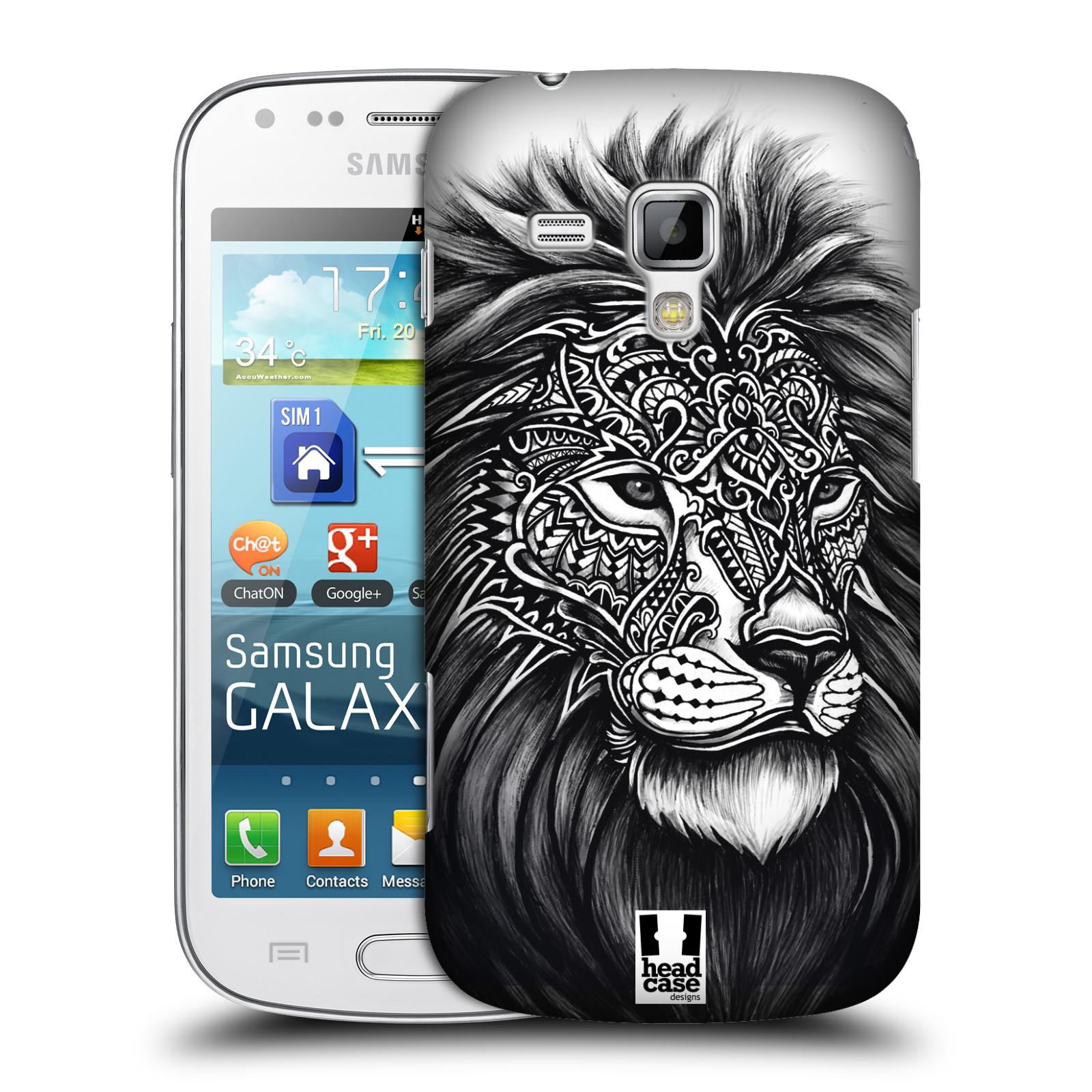 Plastové pouzdro na mobil Samsung Galaxy Trend Plus HEAD CASE Zdobený Lev (Plastový kryt či obal na mobilní telefon Samsung Galaxy Trend Plus GT-S7580)