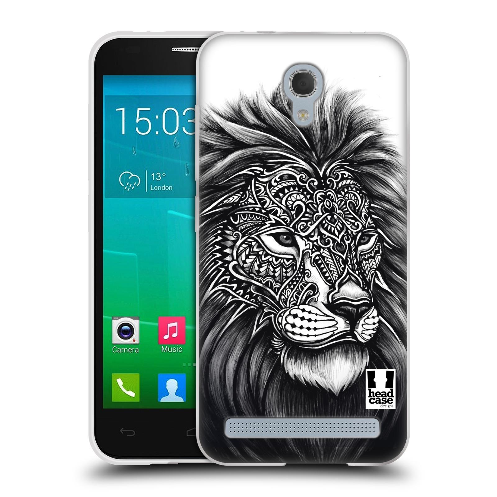 Silikonové pouzdro na mobil Alcatel One Touch Idol 2 Mini S 6036Y HEAD CASE Zdobený Lev (Silikonový kryt či obal na mobilní telefon Alcatel Idol 2 Mini S OT-6036Y)