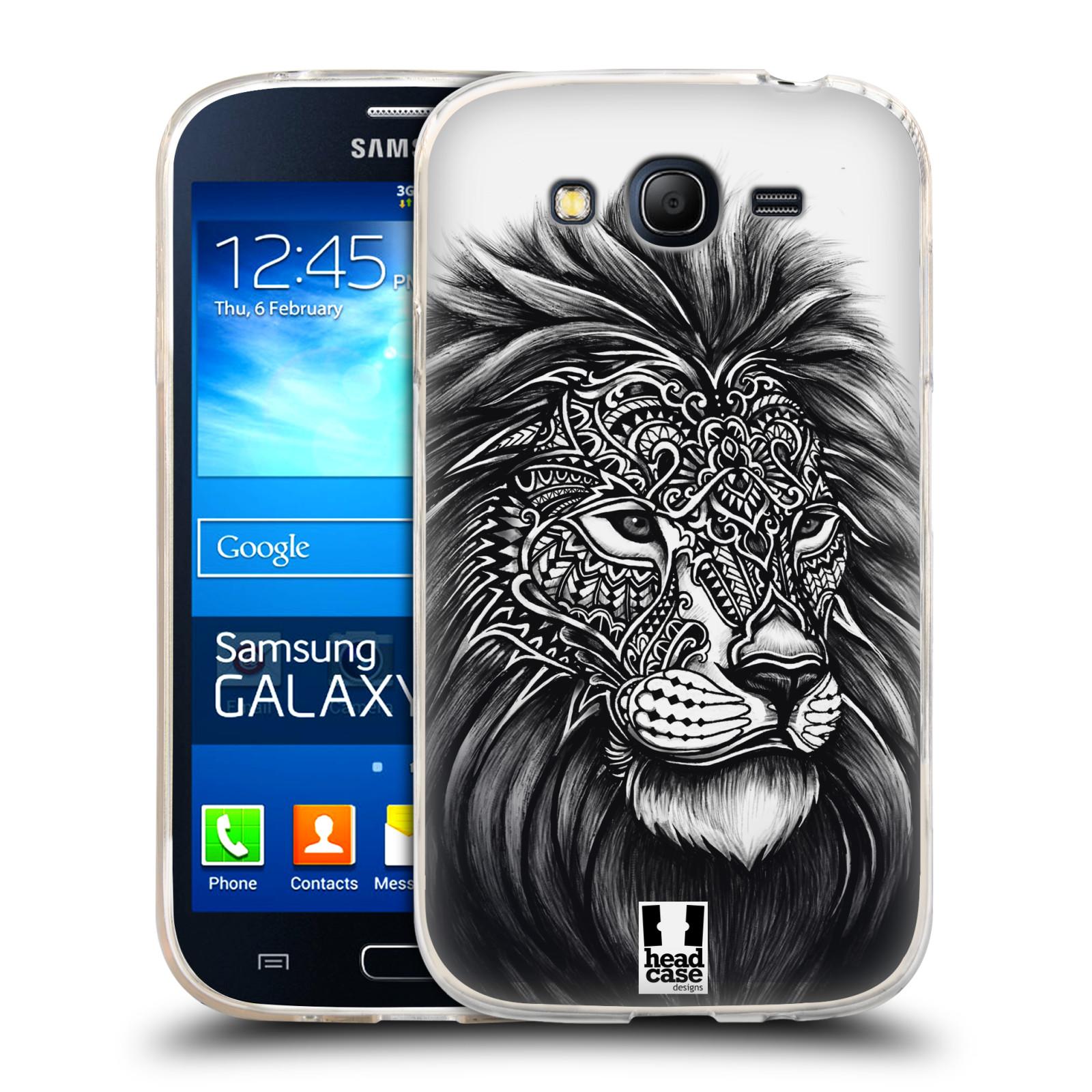 Silikonové pouzdro na mobil Samsung Galaxy Grand Neo HEAD CASE Zdobený Lev (Silikonový kryt či obal na mobilní telefon Samsung Galaxy Grand Neo GT-I9060)