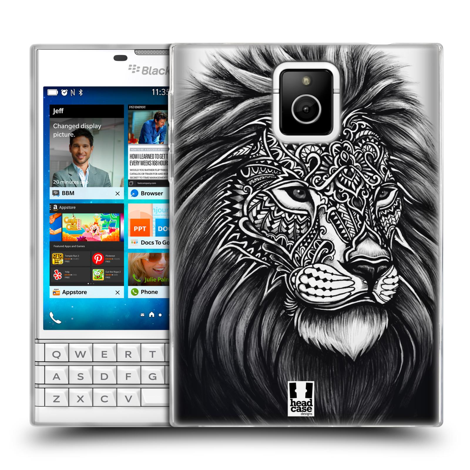 Silikonové pouzdro na mobil Blackberry PASSPORT HEAD CASE Zdobený Lev (Silikonový kryt či obal na mobilní telefon Blackberry PASSPORT)
