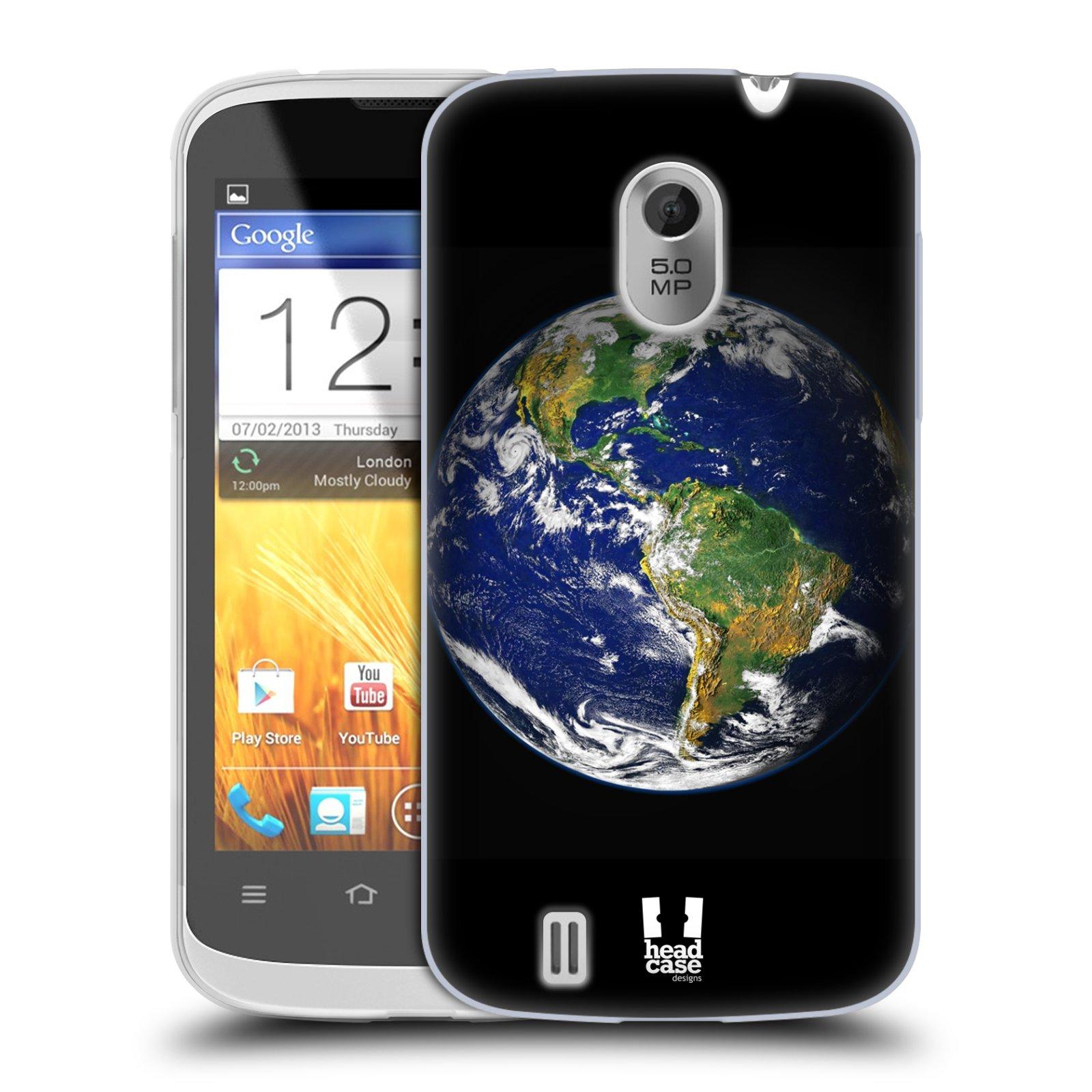 Silikonové pouzdro na mobil ZTE Blade III HEAD CASE ZEMĚ (Silikonový kryt či obal na mobilní telefon ZTE Blade 3)