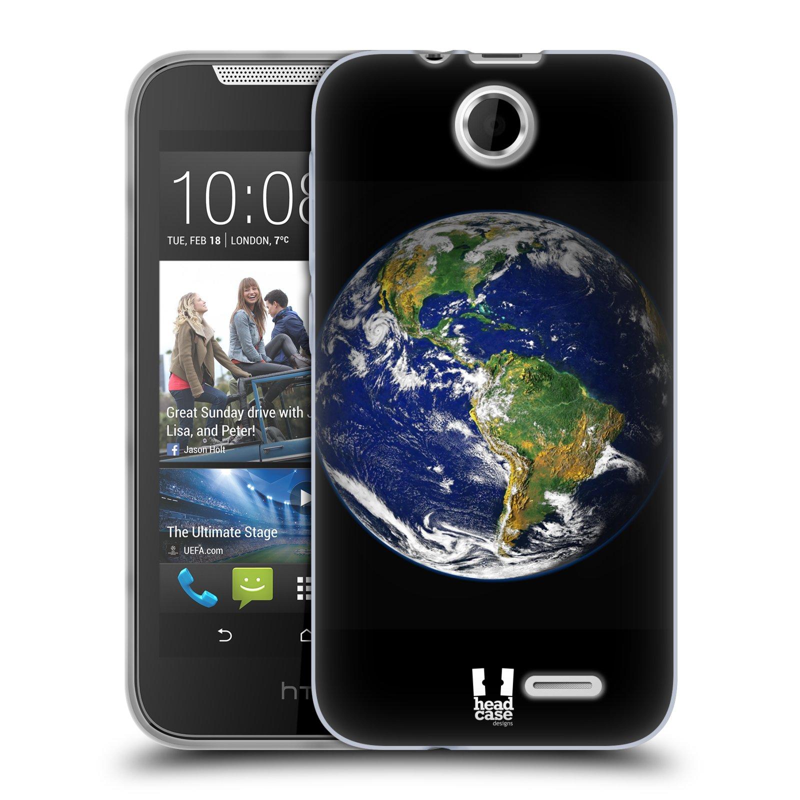 Silikonové pouzdro na mobil HTC Desire 310 HEAD CASE ZEMĚ (Silikonový kryt či obal na mobilní telefon HTC Desire 310)