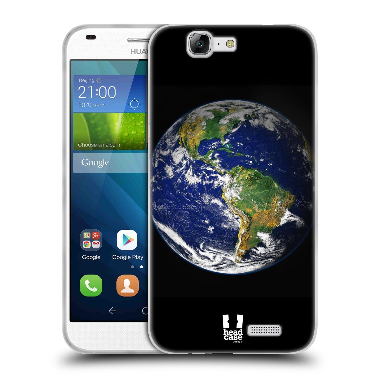 Silikonové pouzdro na mobil Huawei Ascend G7 HEAD CASE ZEMĚ (Silikonový kryt či obal na mobilní telefon Huawei Ascend G7)